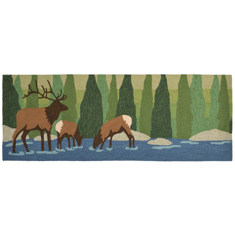 """Elk - Forest / 27""""X72"""" Frontporch Collection 'Elk' Indoor/Outdoor Rug 0"""