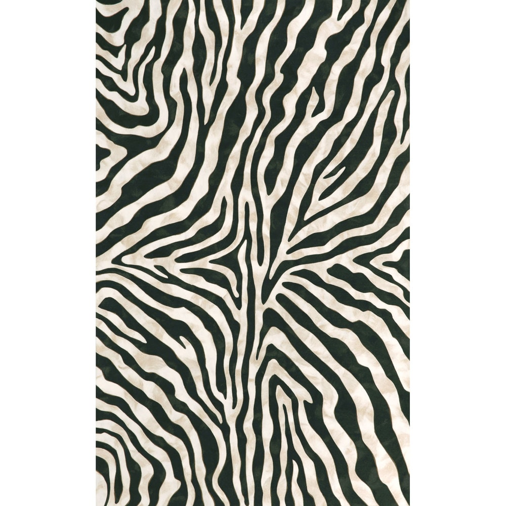 maneck visions i collection zebra indoor outdoor rug zebra black 8 x10