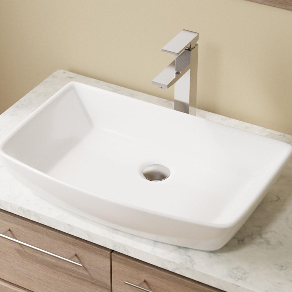 Mr Direct Bathroom Sinks Porcelain Vessel 23 5 Quot X 14 75 Quot X 5 125 Quot White V350 W
