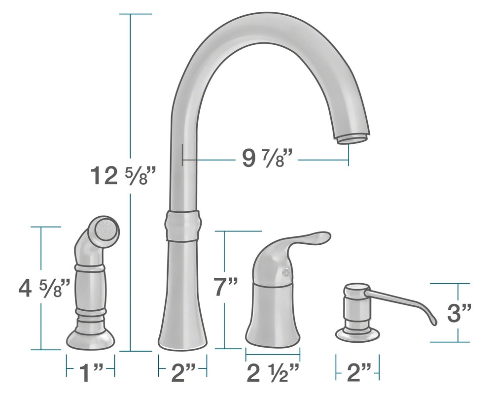 Sir Faucet Kitchen Faucets Modern / Chrome / 710-C