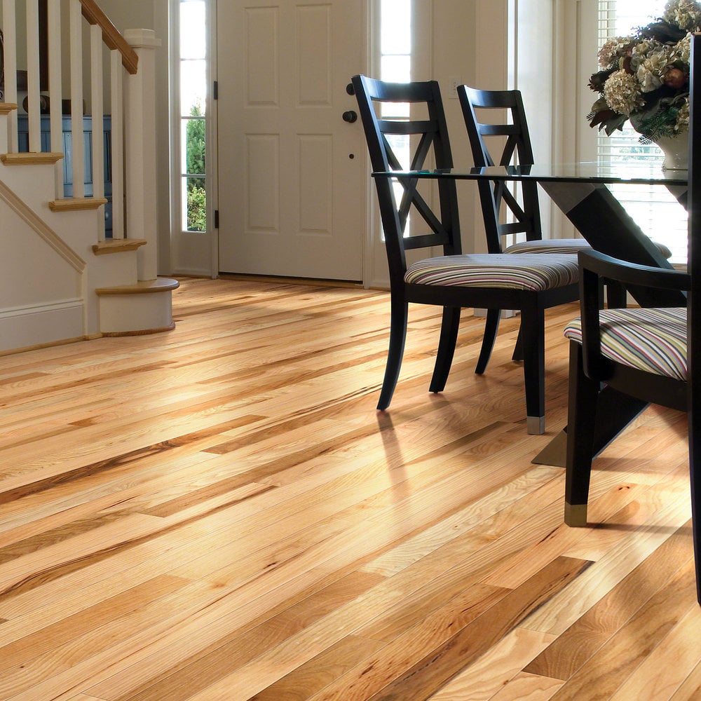 Shaw floors solid hardwood flooring rustic hickory for Hardwood floors hickory