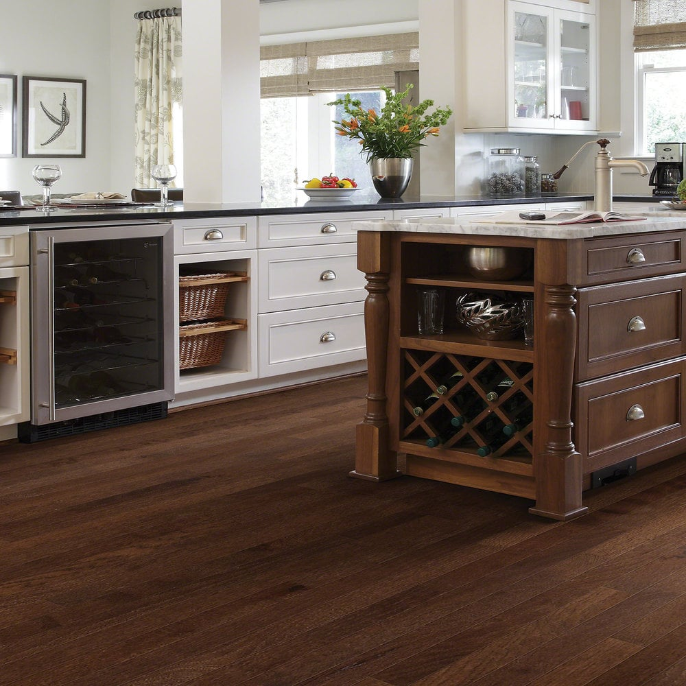 Shaw floors solid hardwood flooring rustic hickory for Hardwood flooring nearby
