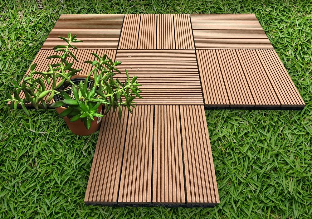 ep decking composite click lock locking deck tiles mocha. Black Bedroom Furniture Sets. Home Design Ideas