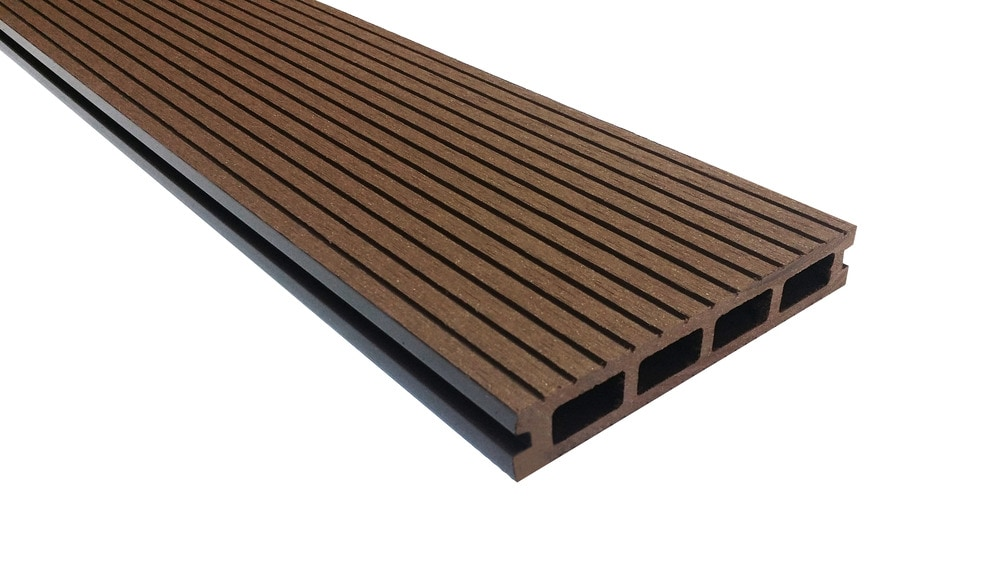 Ep decking ep wood plastic composite decking mocha for Plastic composite decking