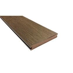 EP Wood Plastic Composite Decking   Walnut / Solid Grooved / Wood Grain / 5  .