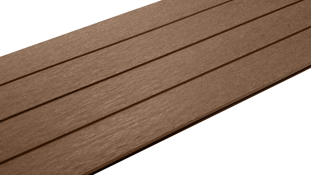 Ep decking ep wood plastic composite decking mocha solid for Plastic composite decking