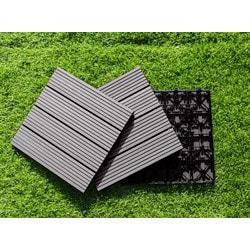 "EP Decking Composite Click lock Locking Deck Tiles Castle Gray 12""x12""x4/5"""