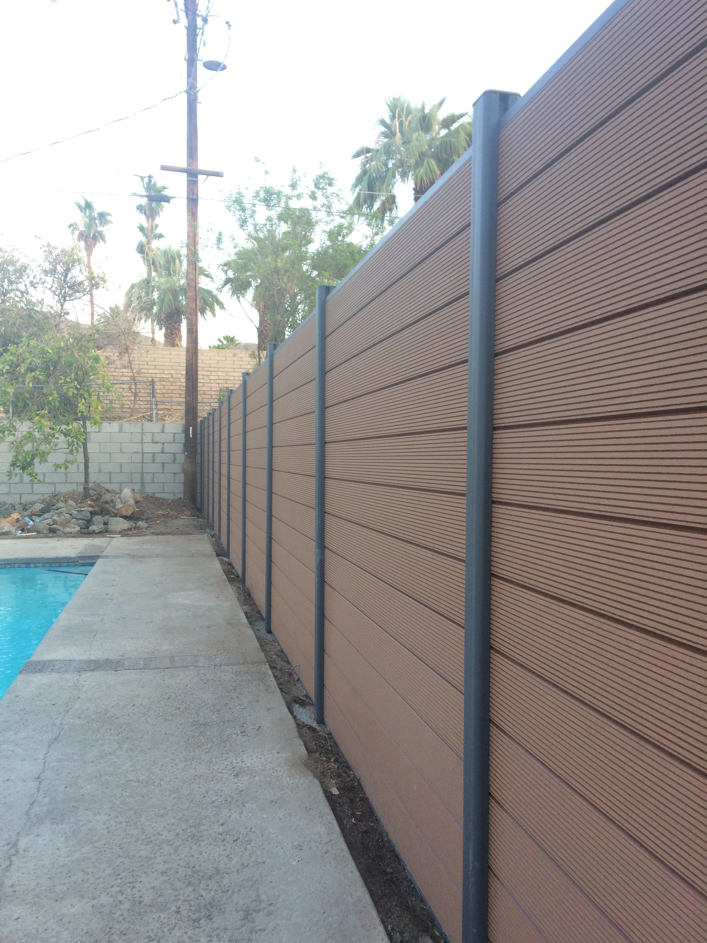 Privacy Fence / Euro Style Mocha / 6'x6' With One Post EP Euro Style 6x6 Ft. Composite Privacy Fence Kit 0