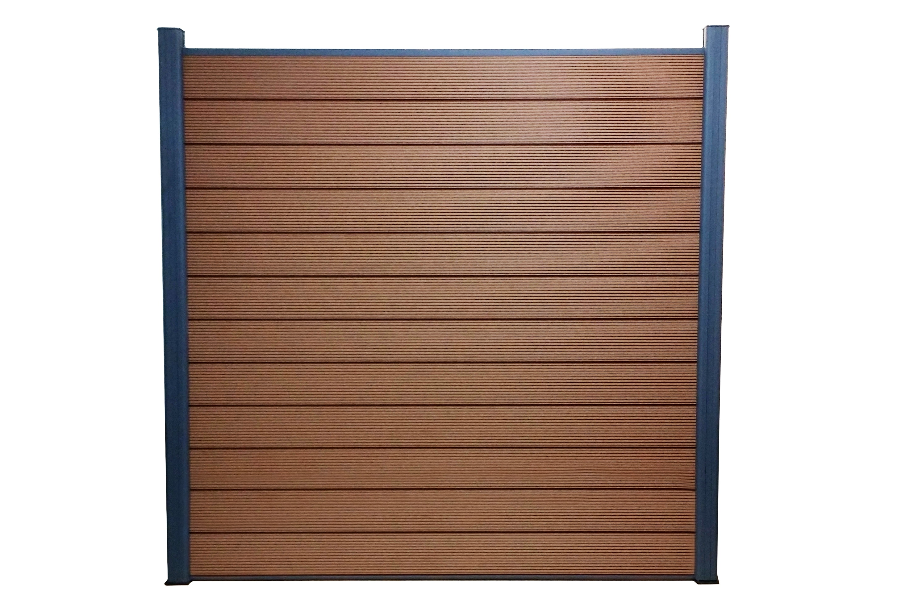 Privacy Fence / Euro Style Mocha / 6'x6' With Two Posts EP Euro Style 6x6 Ft. Composite Privacy Fence Kit 0
