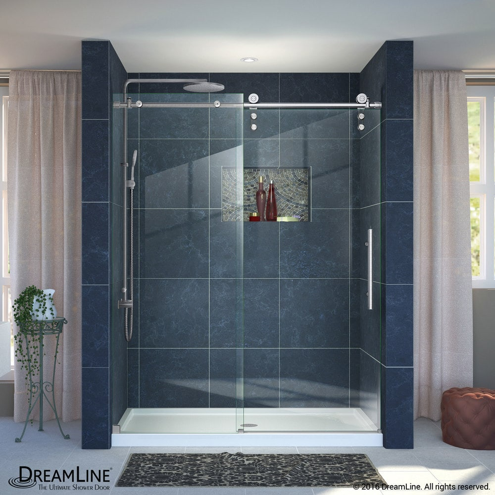 DreamLine Enigma-Z Fully Frameless Sliding Door & SlimLine 32\