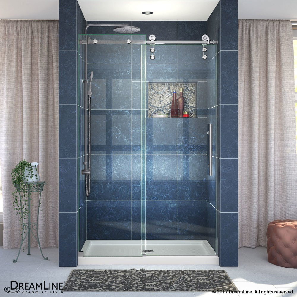 Dreamline Enigma Z 44 48 Fully Frameless Sliding Shower Door Fully