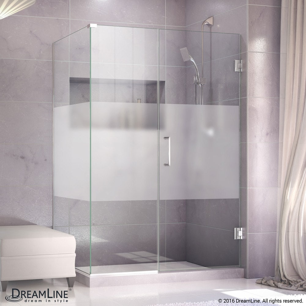 Dreamline 53 12w X 30 38d X 72h Hinged Shower Half Frosted