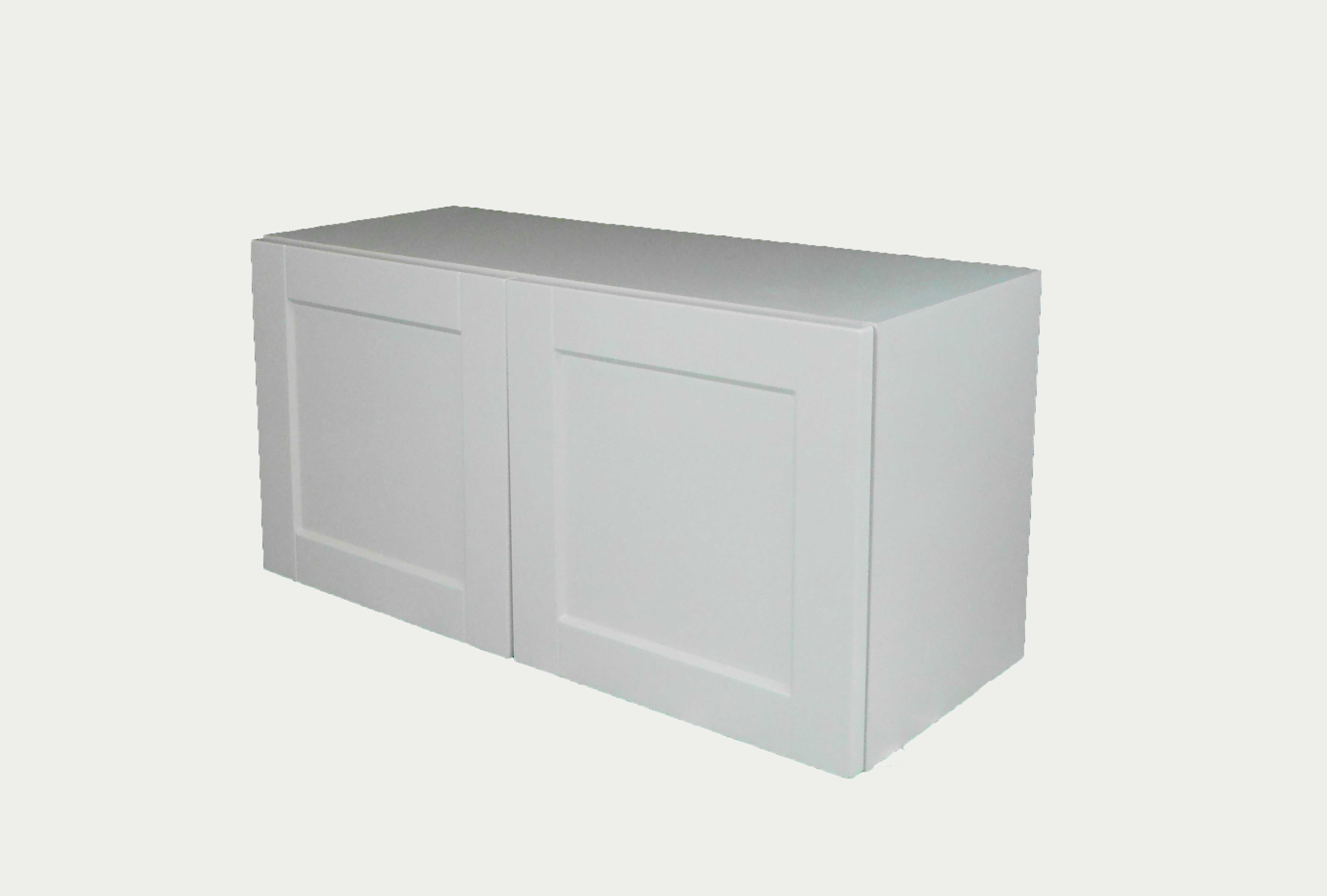 Appliance Wall Cabinet with 2 Doors / Flat Panel White / 24x15 Solaire White 0