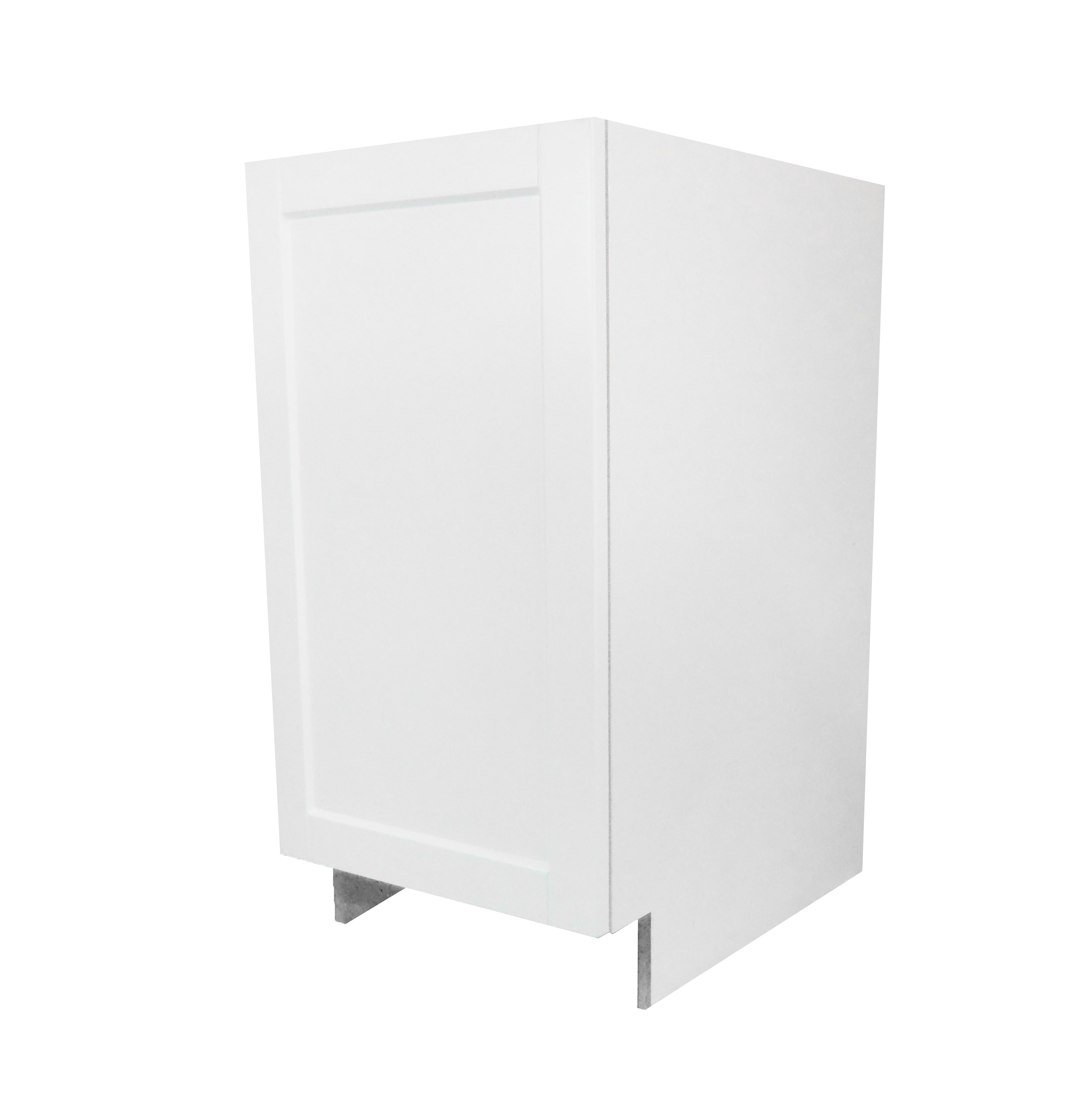 Base Cabinet With Door / Flat Panel White / 18 Solaire White 0