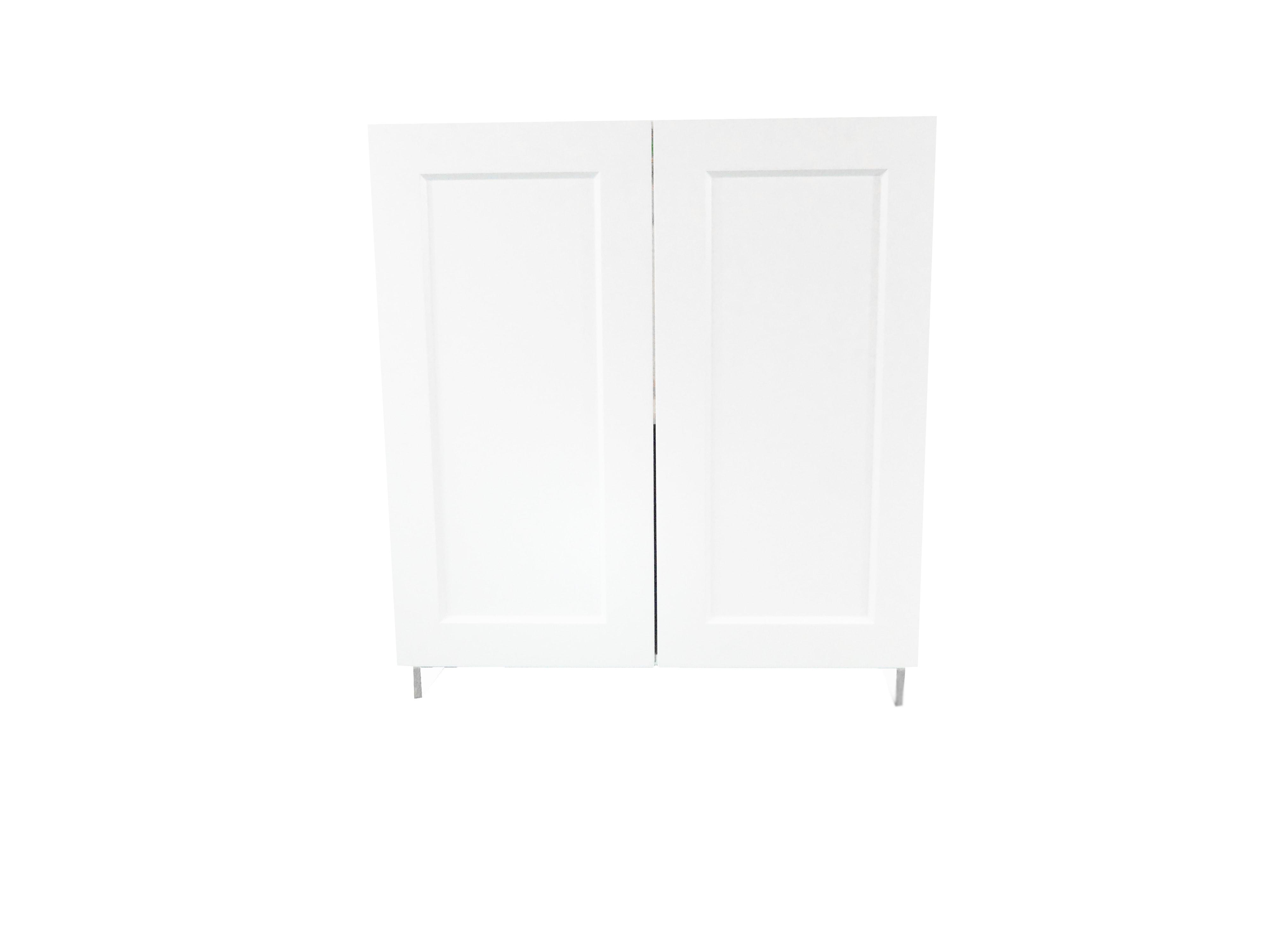 Base Cabinet With 2 Door / Wistler White / Flat Panel White / 24 Whistler White 0