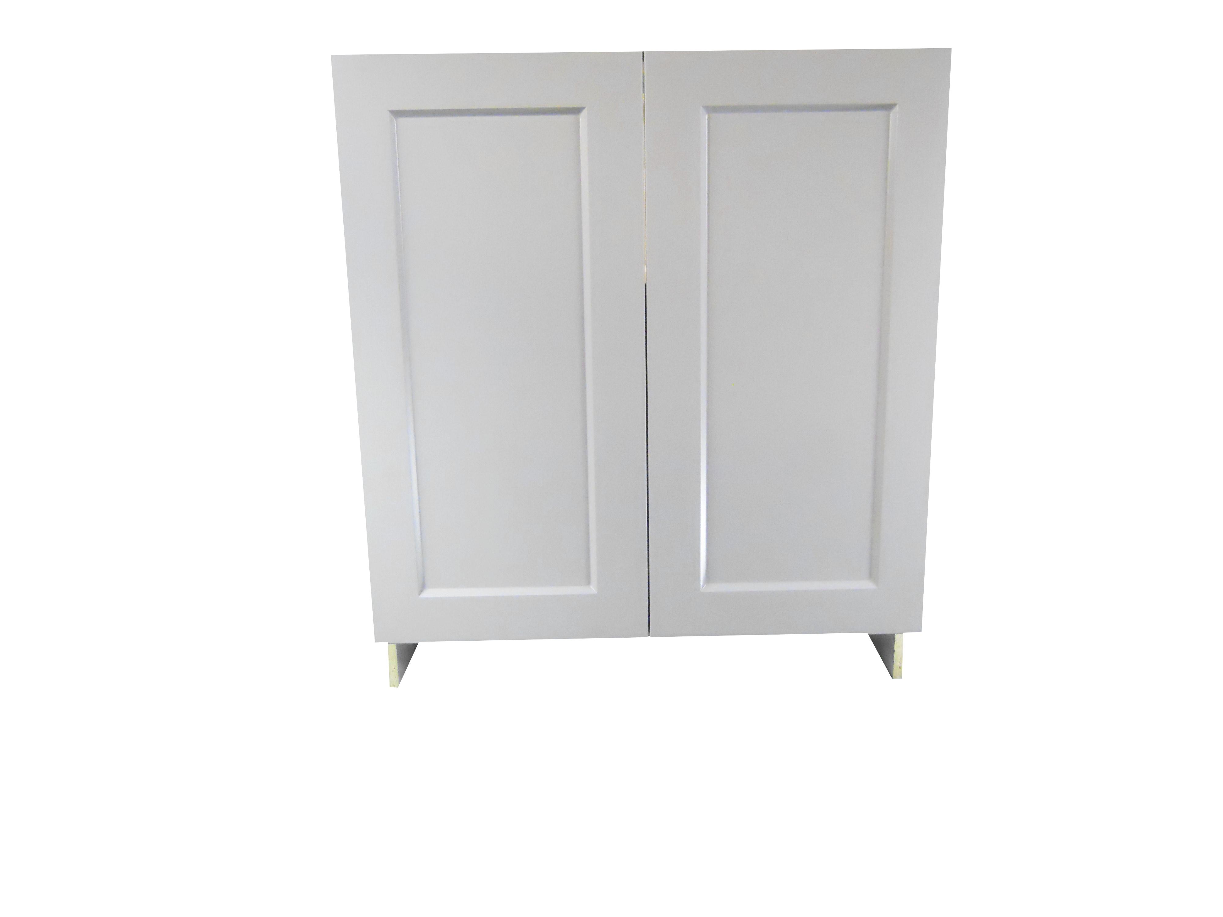 Base Cabinet With 2 Door / Whistler Grey / Flat Panel Grey / 30 Whistler Grey 0