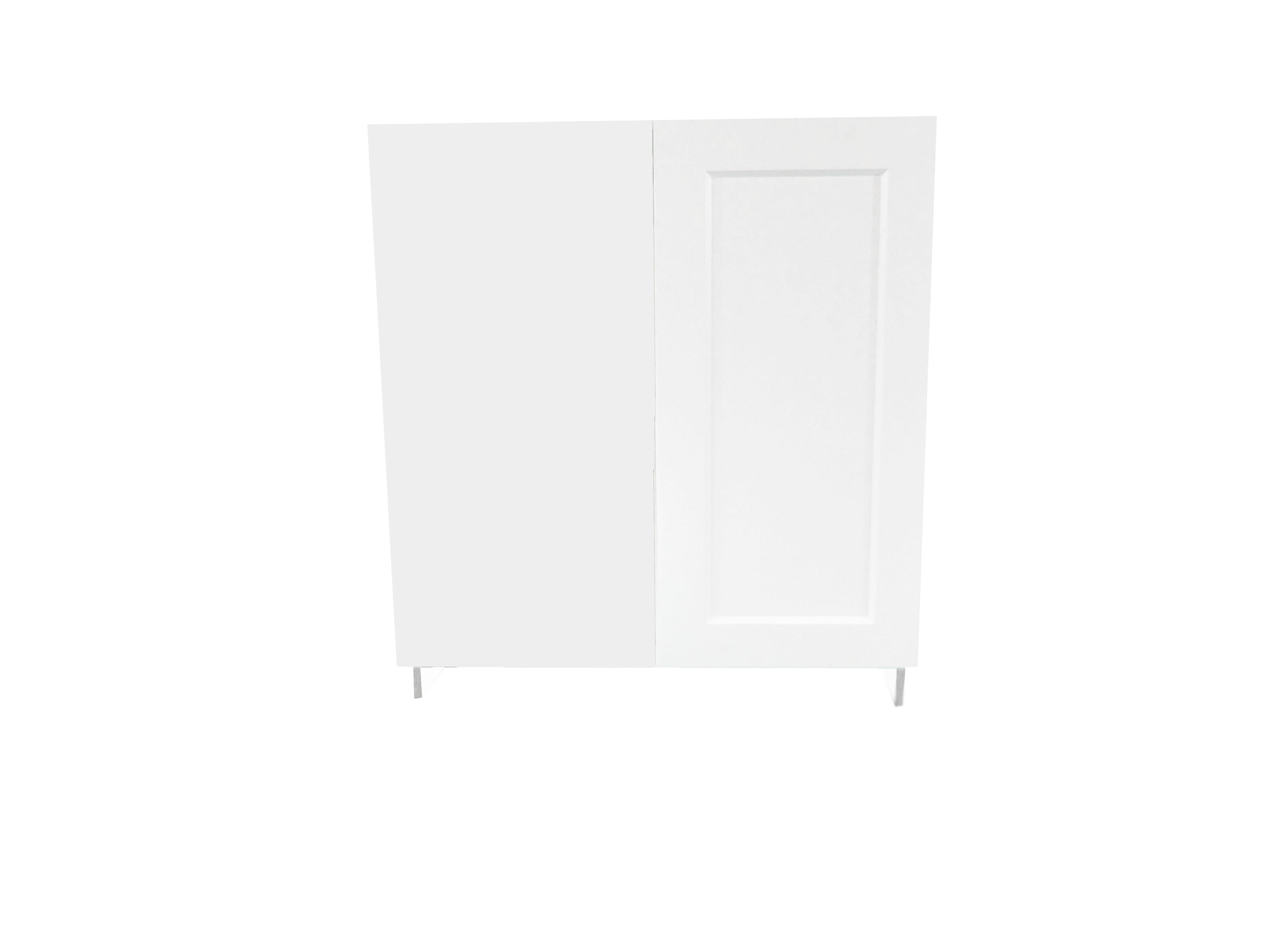 Blind Base Cabinet with Door / Wistler White / Flat Panel White / 36 Whistler White 0