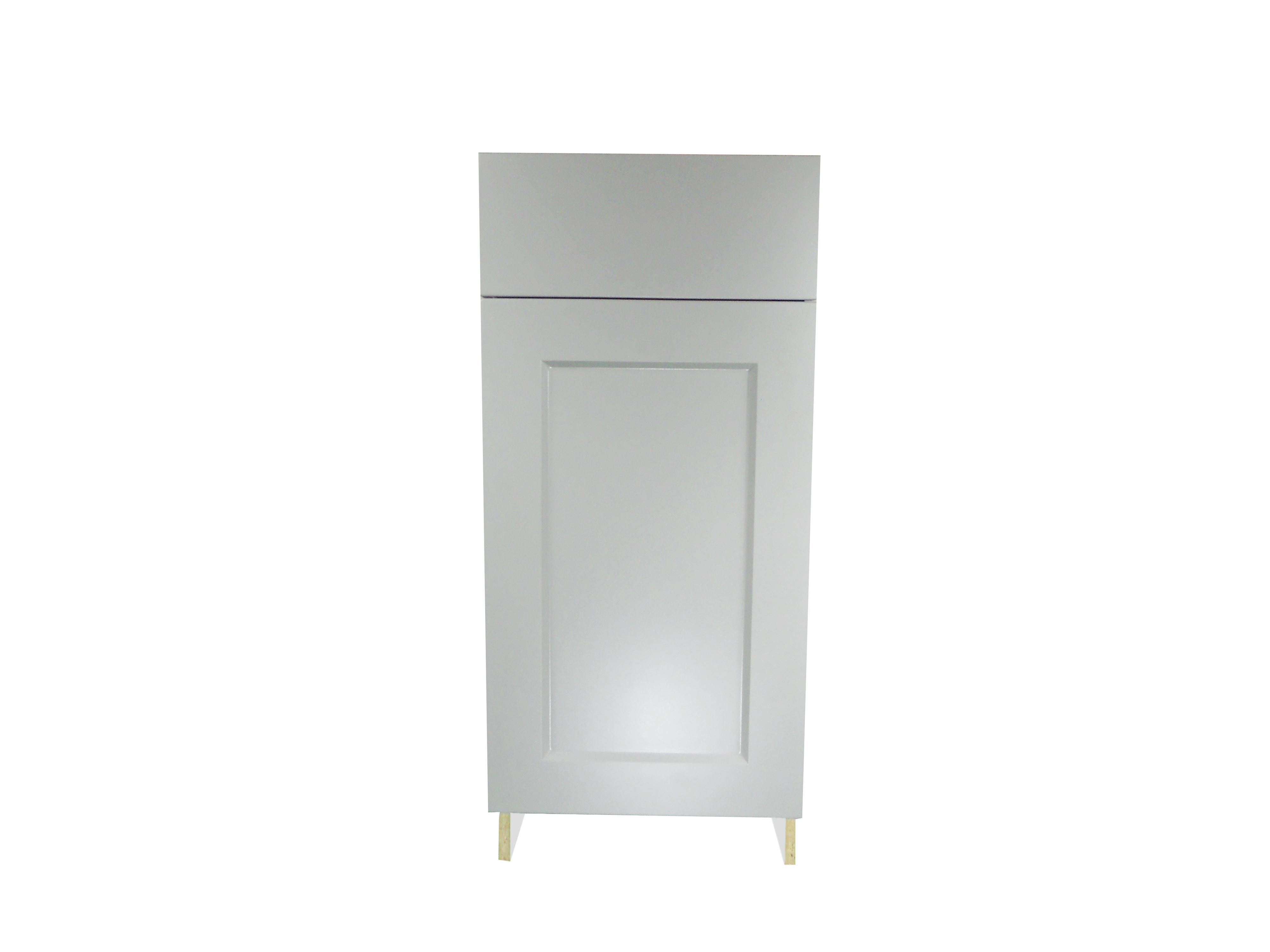 Base Cabinet with Drawer/Door / Whistler Grey / Flat Panel Grey / 15 Whistler Grey 0