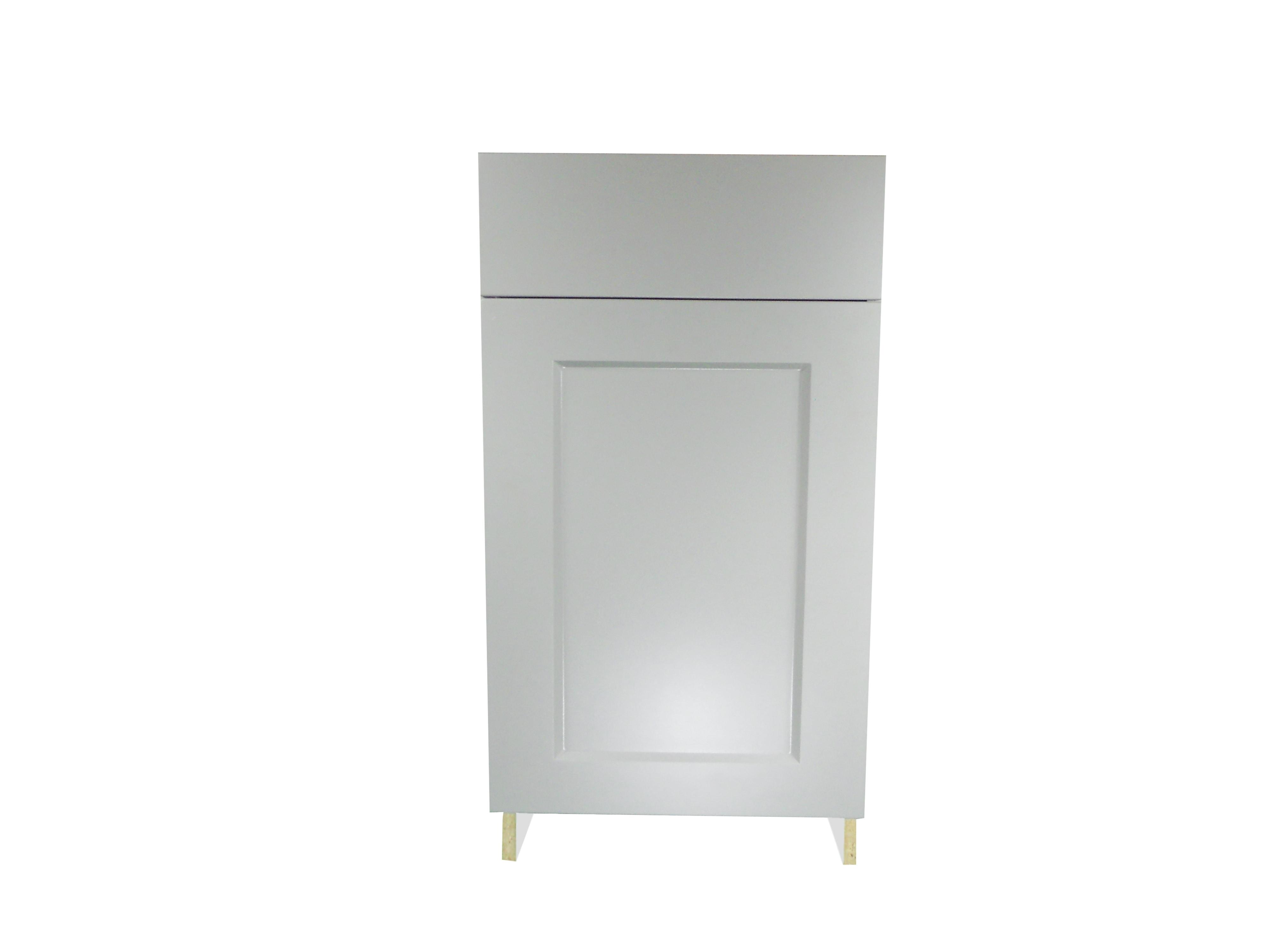 Base Cabinet with Drawer/Door / Whistler Grey / Flat Panel Grey / 21 Whistler Grey 0