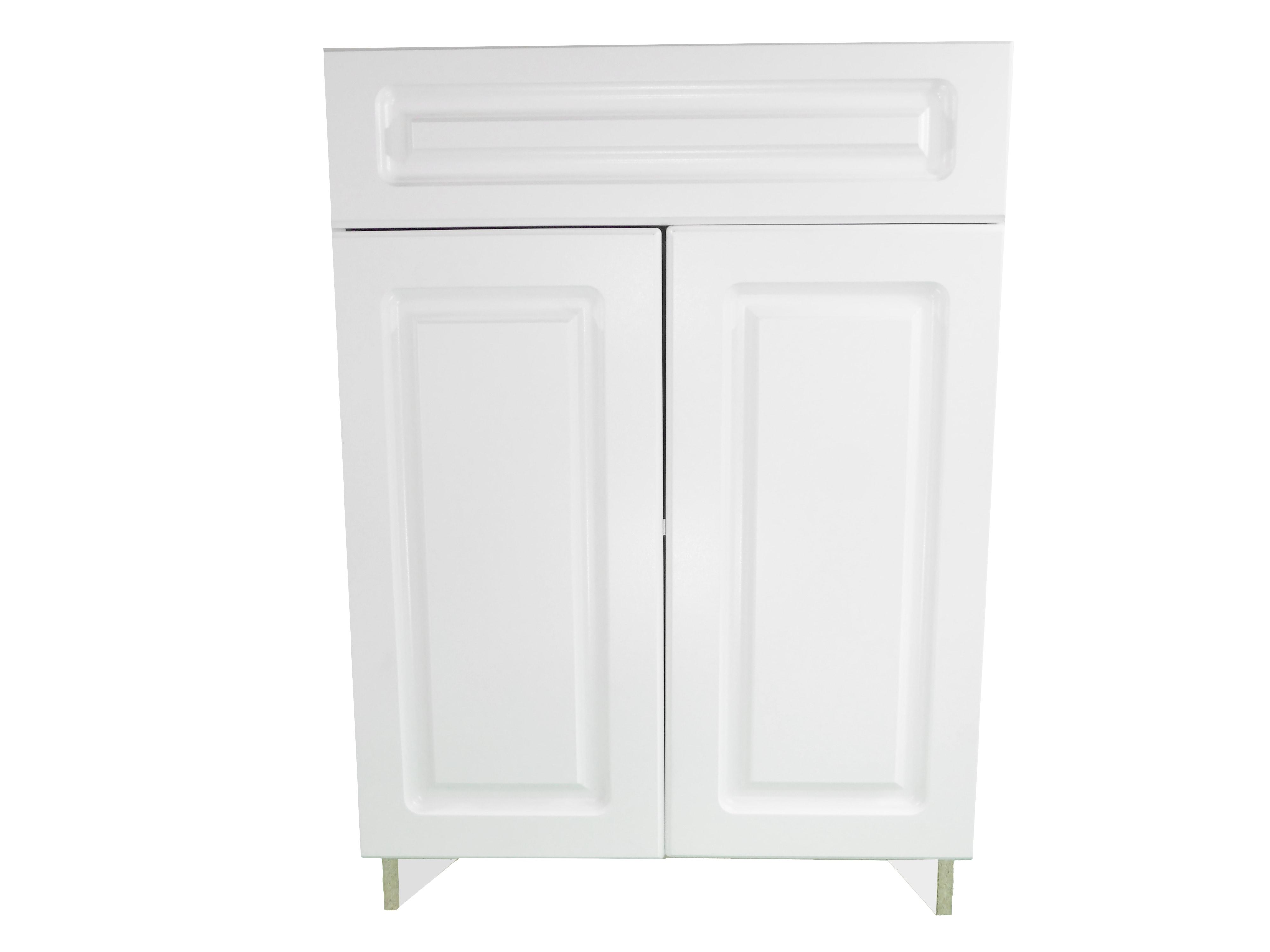 Base Cabinet with Drawer/2 Door / San Juan / Raised Panel White / 27 San Juan 0