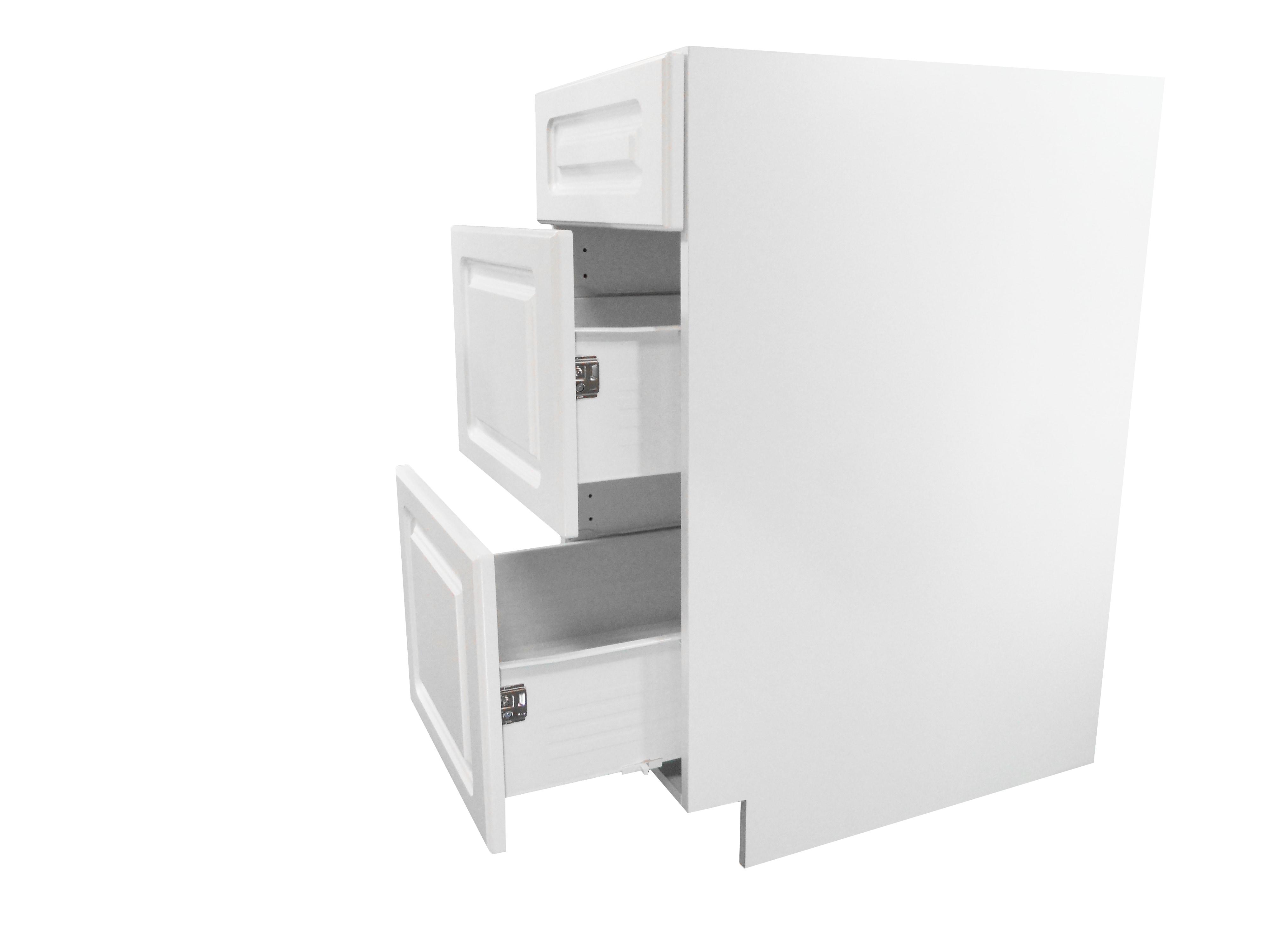Base Cabinet 3 Drawer Bank / San Juan / Raised Panel White / 15 San Juan 0