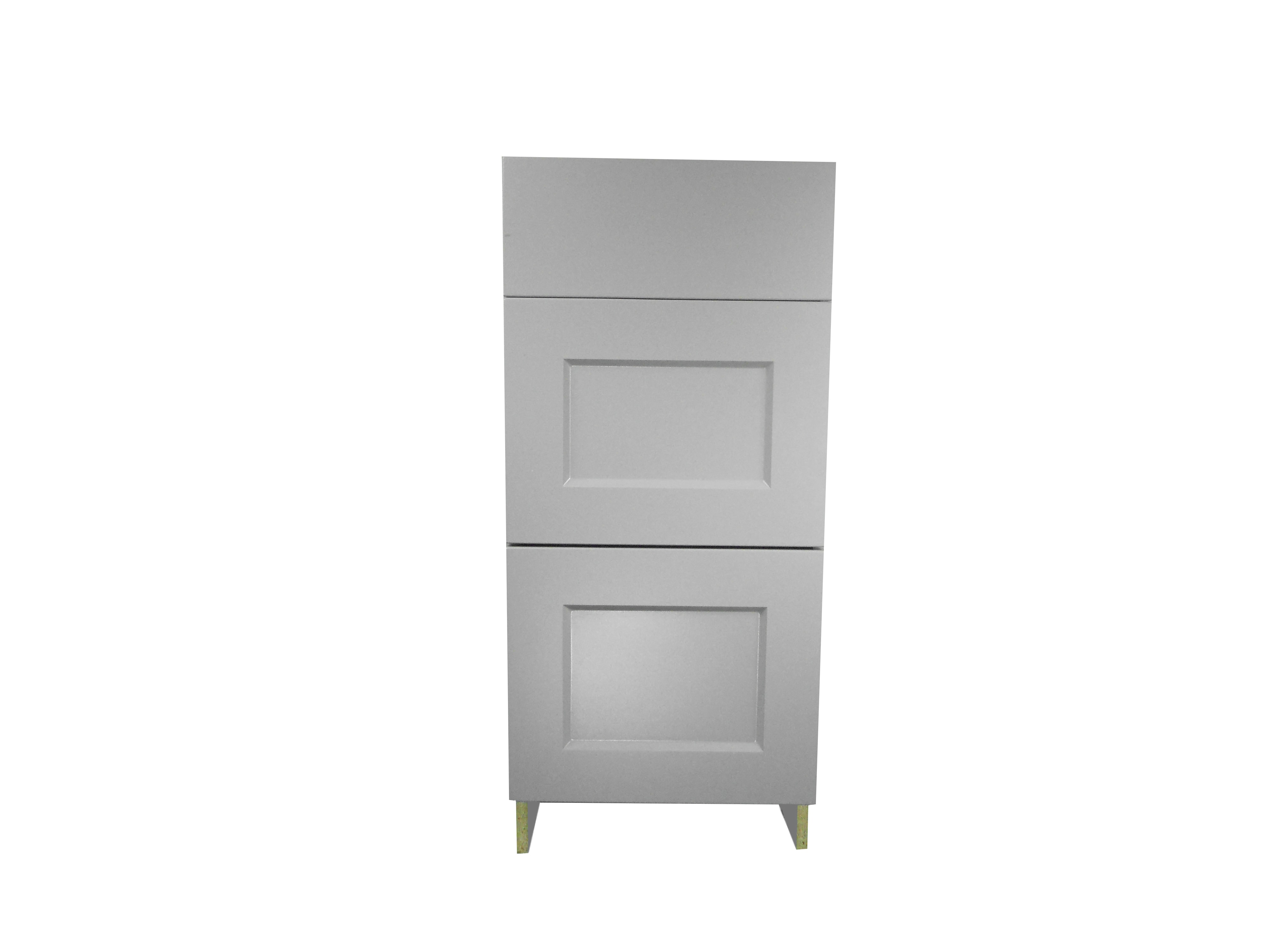 Base Cabinet 3 Drawer Bank / Whistler Grey / Flat Panel Grey / 15 Whistler Grey 0