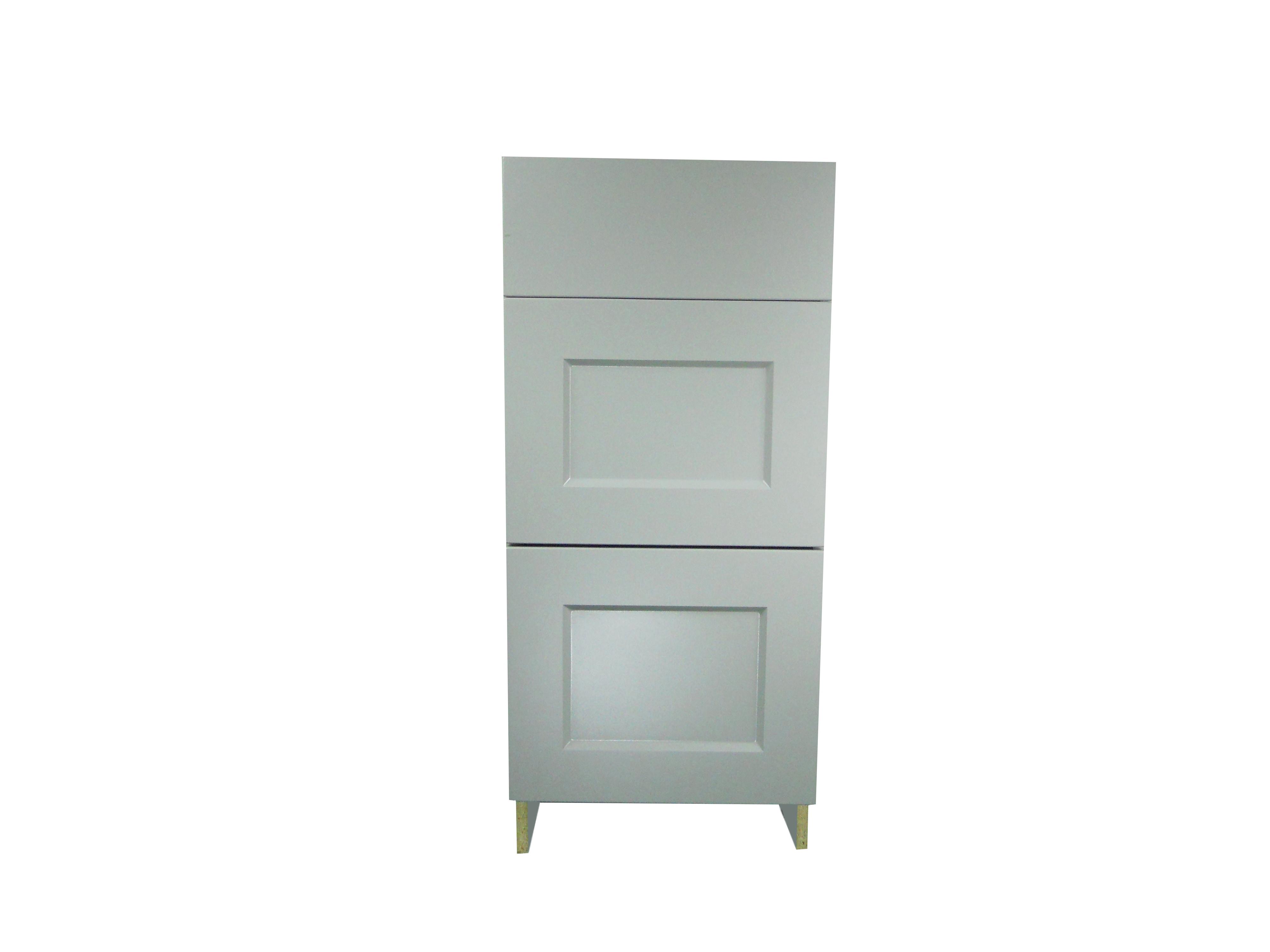 Base Cabinet 3 Drawer Bank / Whistler Grey / Flat Panel Grey / 18 Whistler Grey 0