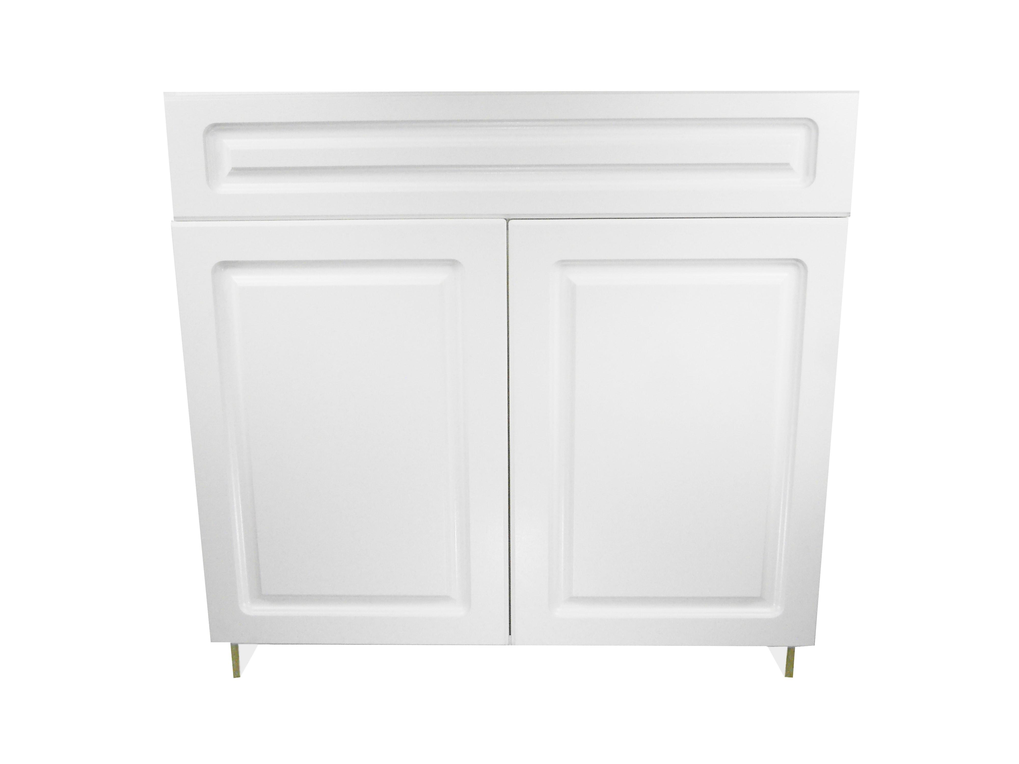 Sink Base Cabinet with 2 Door / San Juan / Raised Panel White / 36 San Juan 0