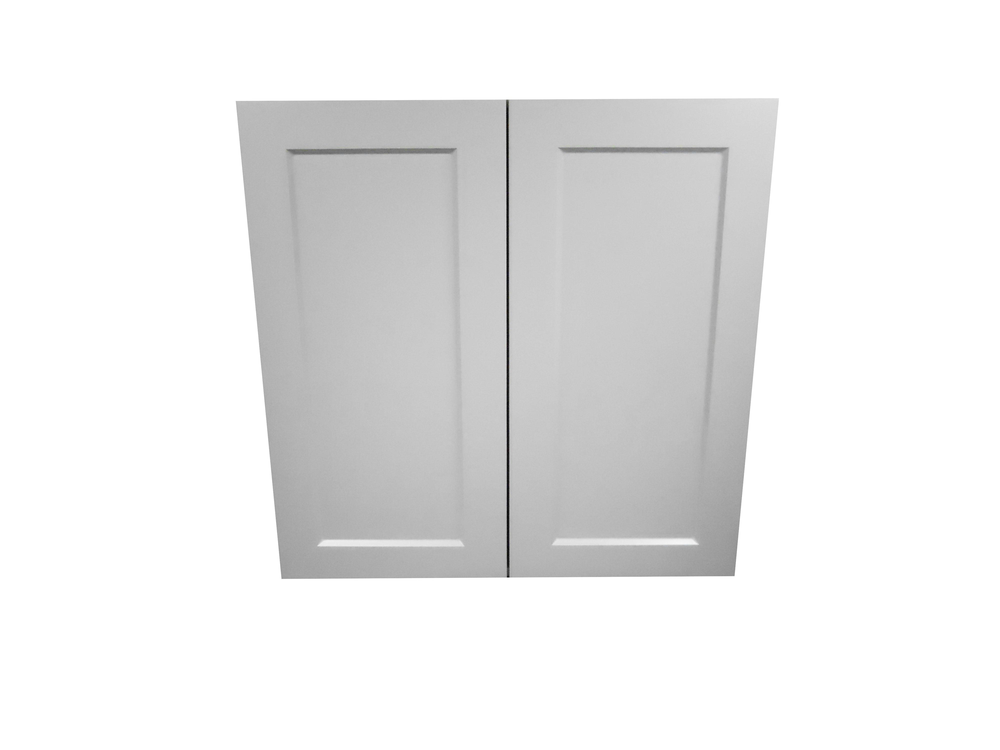 Wall Cabinet with 2 Door / Whistler Grey / Flat Panel Grey / 24x30 Whistler Grey 0