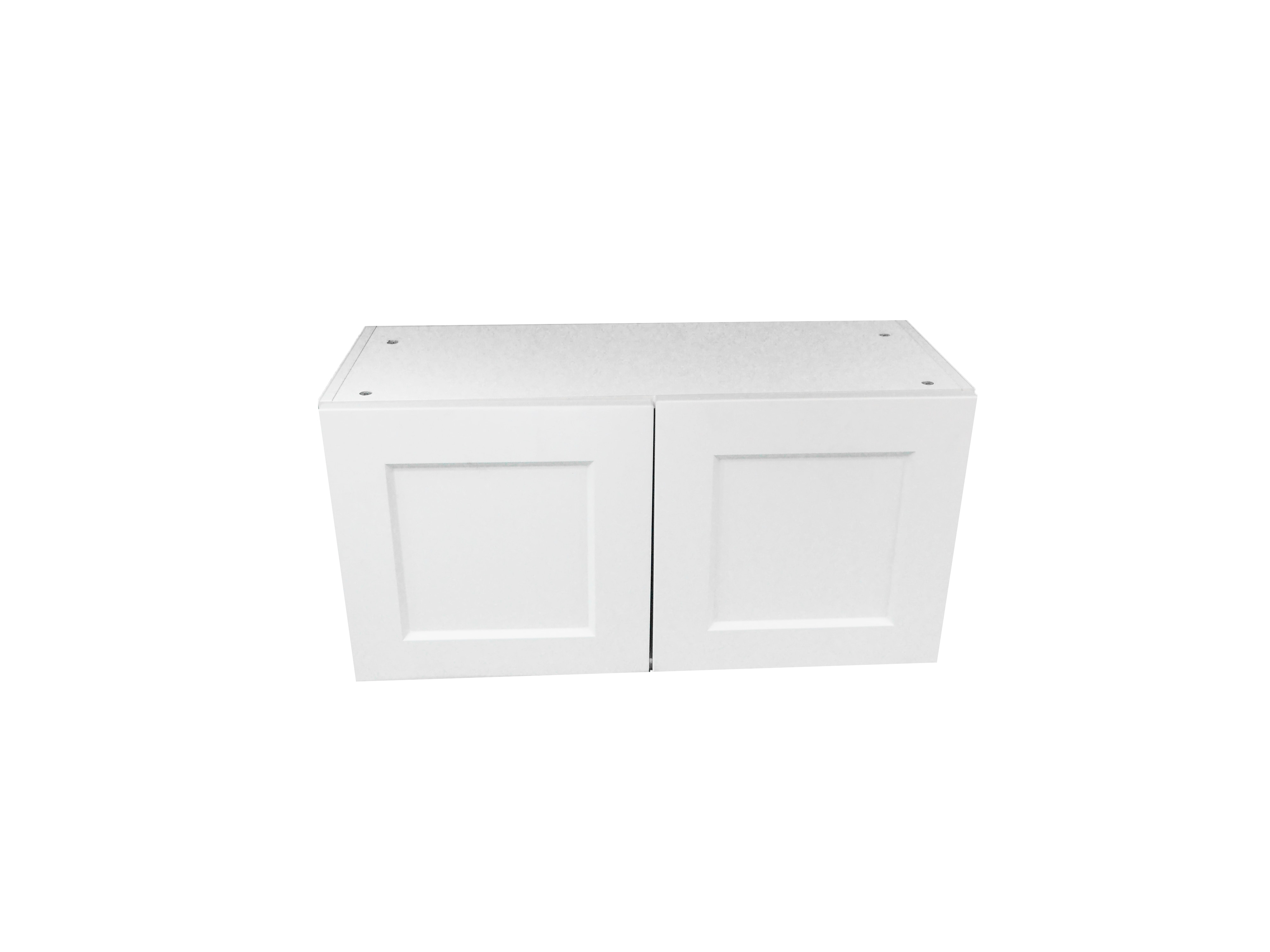 Appliance Wall Cabinet with 2 Doors / Wistler White / Flat Panel White / 30x12 Whistler White 0