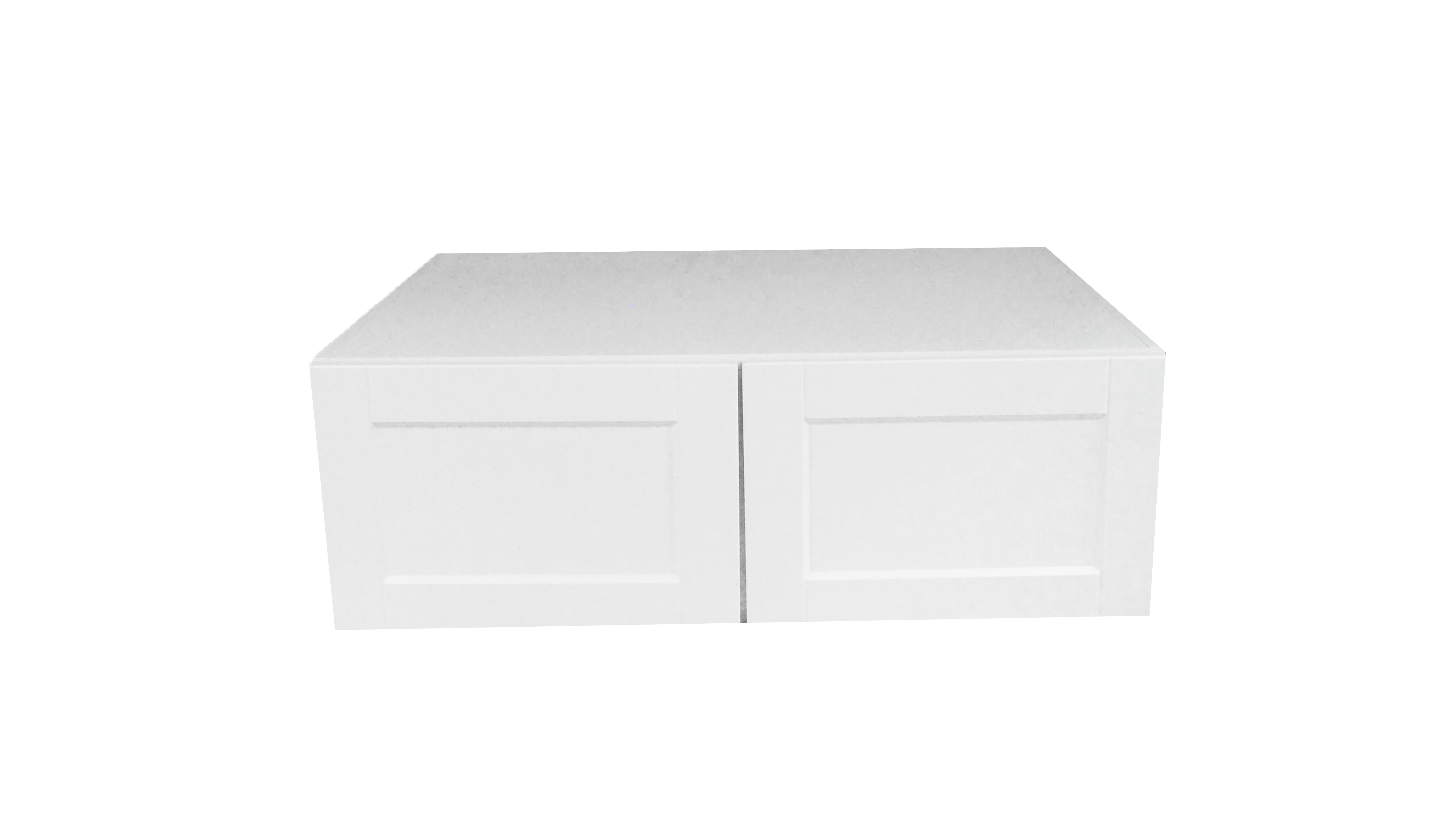 Deep Appliance Wall Cabinet / Flat Panel White / 30x15x24 Solaire White 0