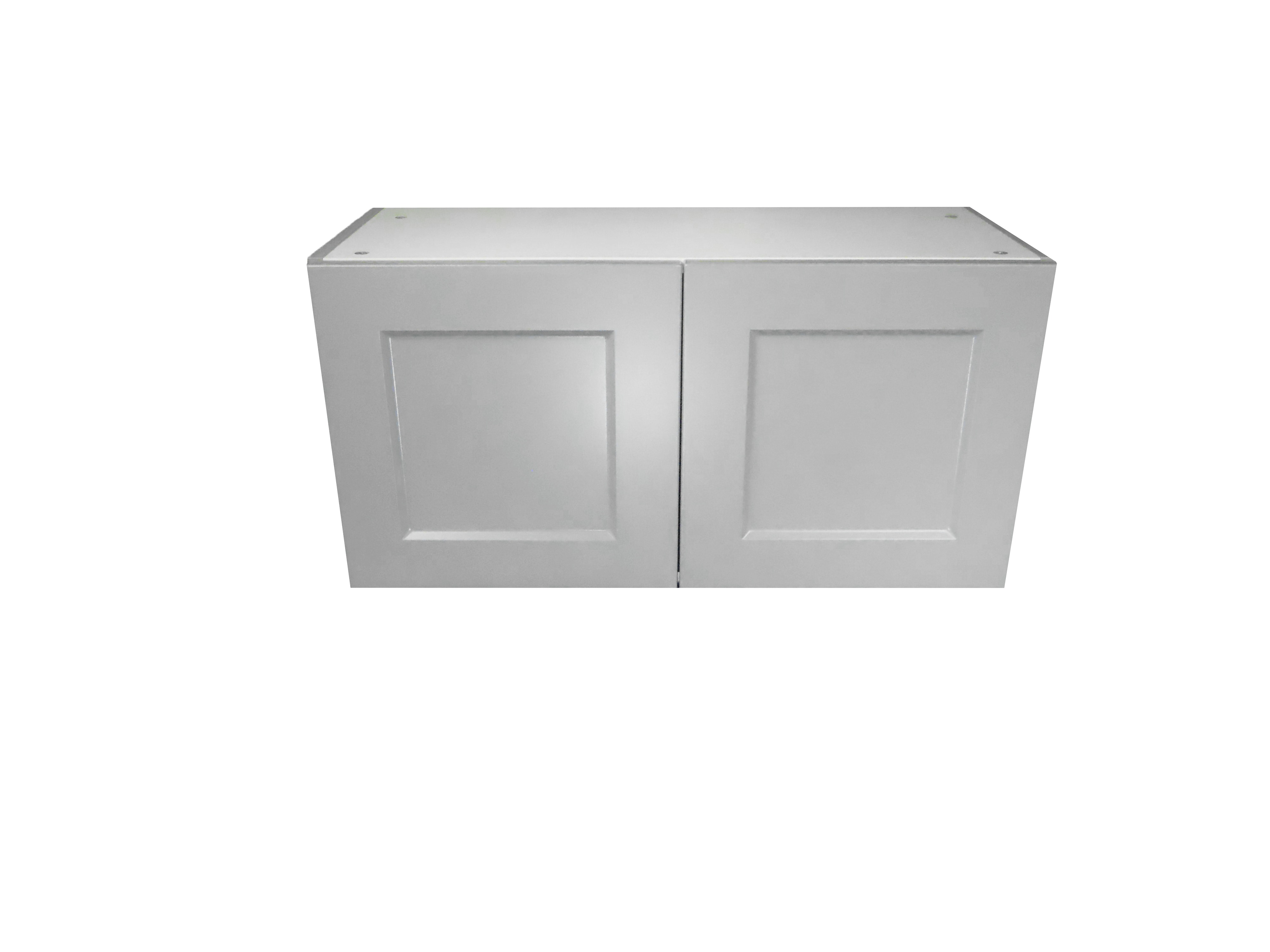 Appliance Wall Cabinet with 2 Doors / Whistler Grey / Flat Panel Grey / 30x15 Whistler Grey 0