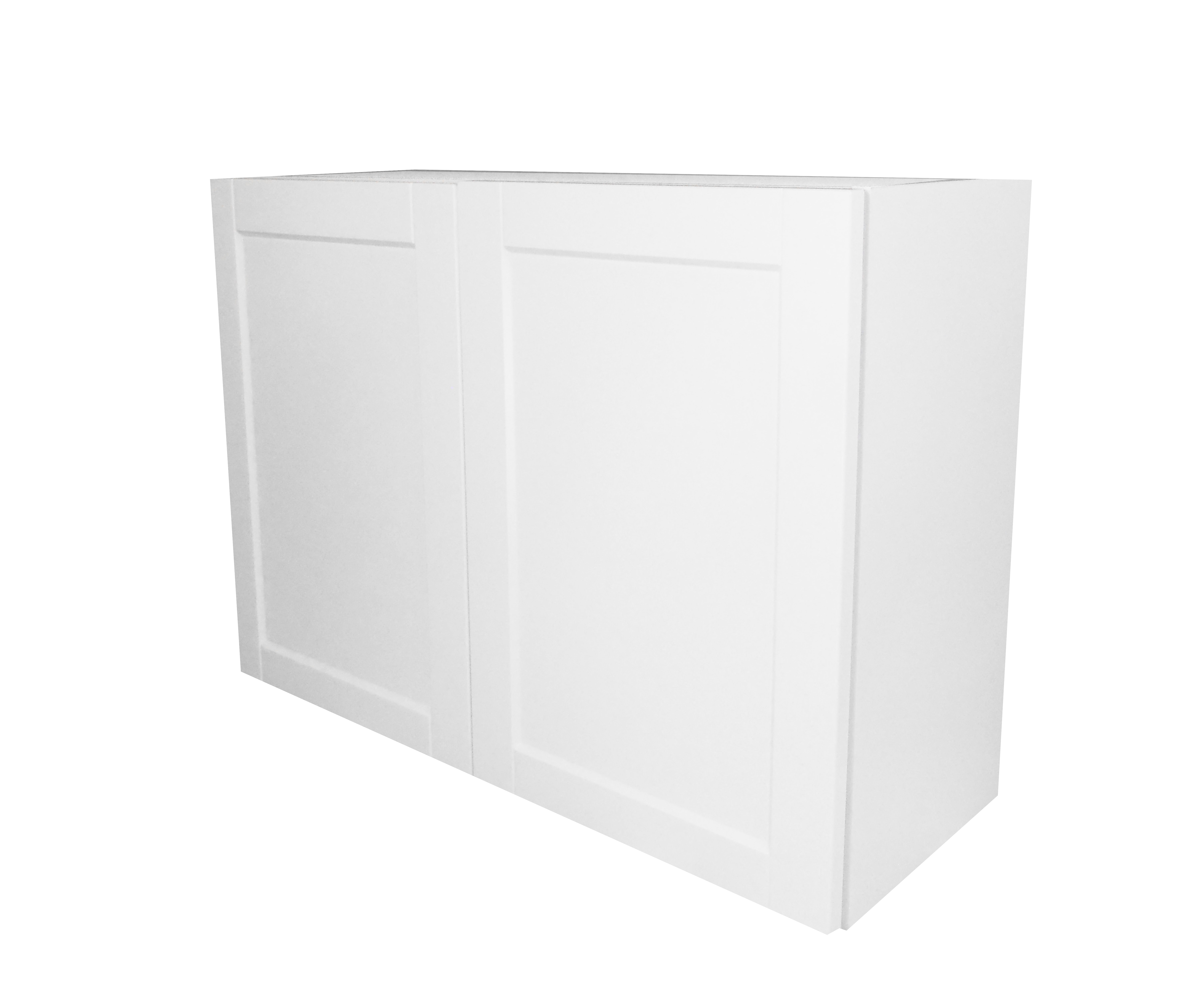 Wall Cabinet with 2 Door / Flat Panel White / 33x24 Solaire White 0
