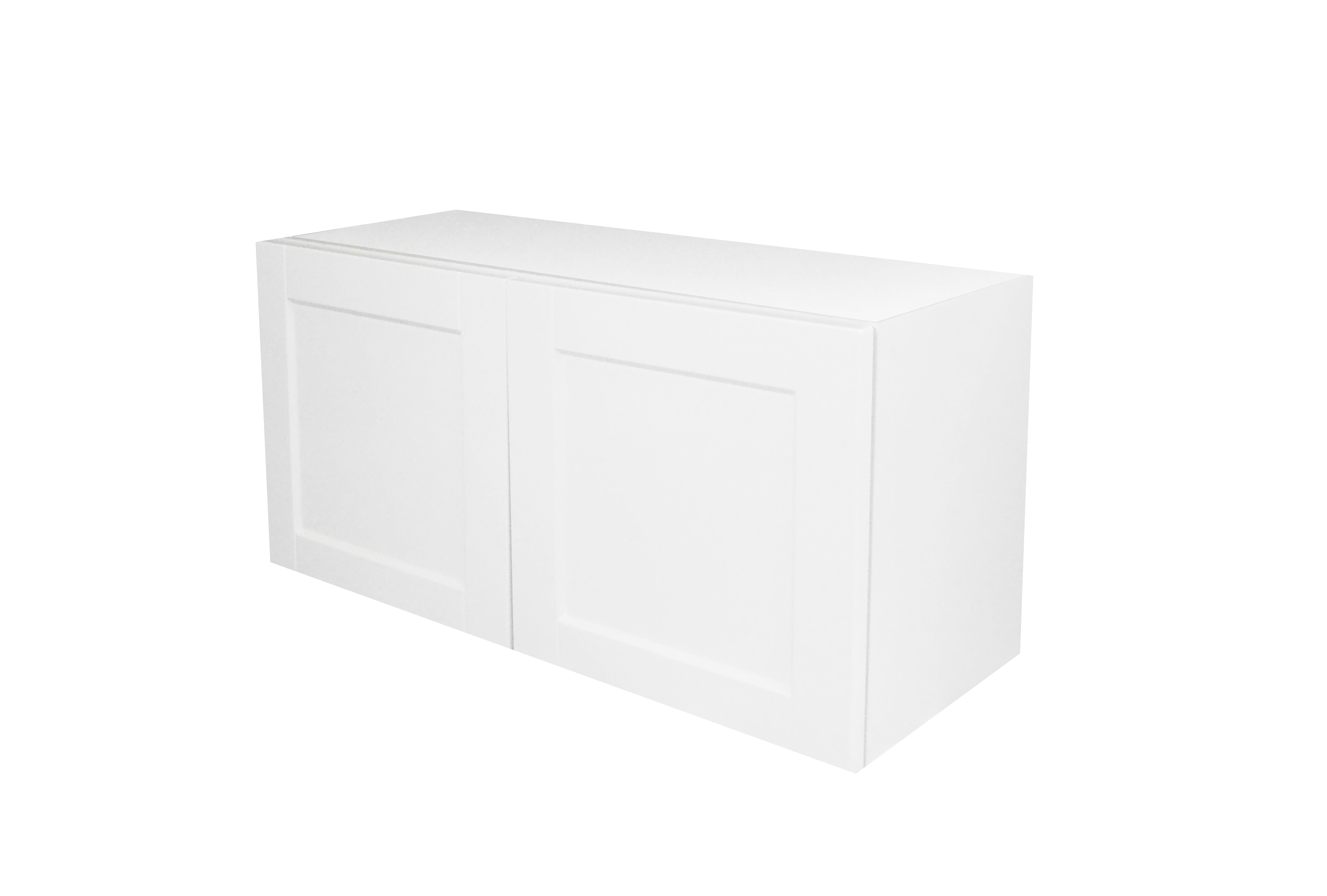 Appliance Wall Cabinet with 2 Doors / Flat Panel White / 36x15 Solaire White 0