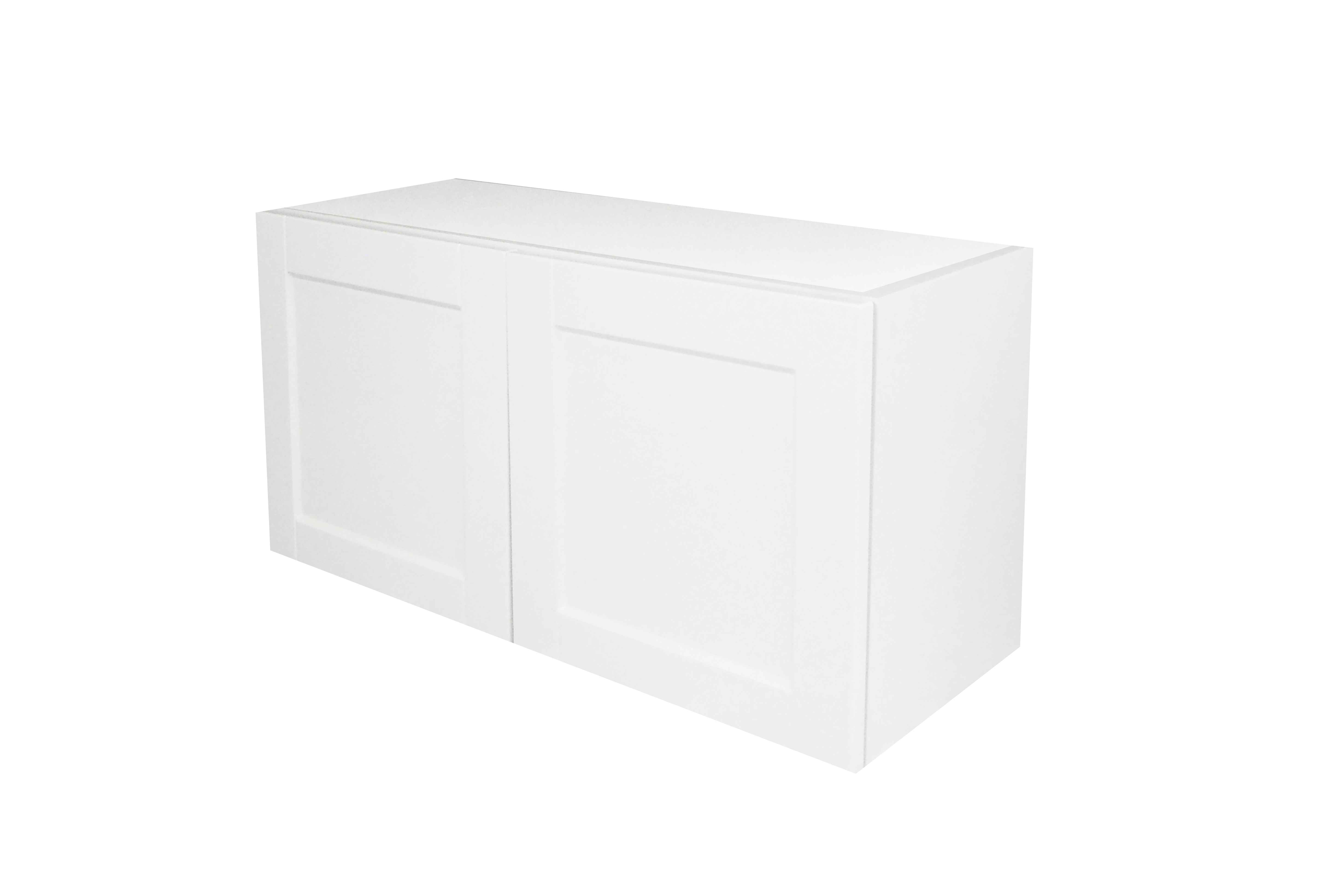 Appliance Wall Cabinet with 2 Doors / Flat Panel White / 36x18 Solaire White 0