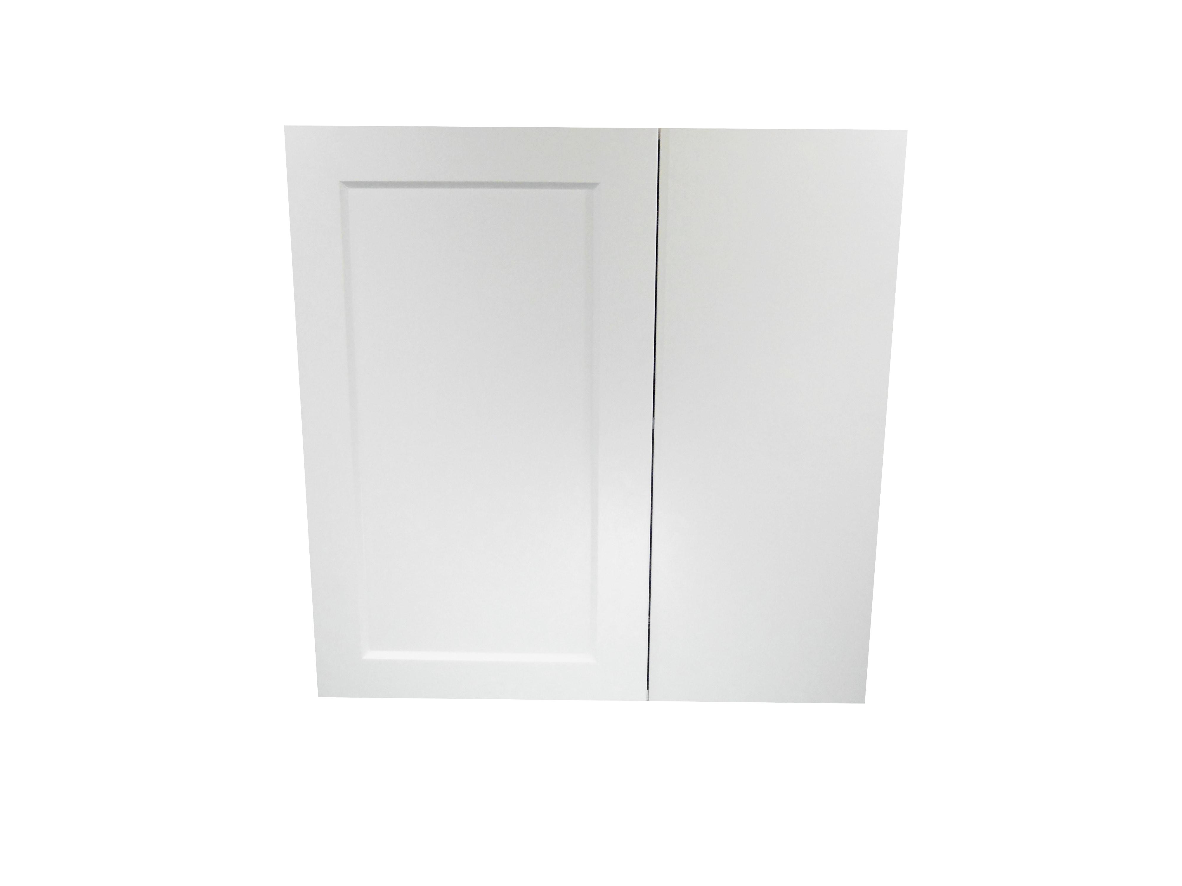 Blind Wall Cabinet / Wistler White / Flat Panel White / 24x24x30 Whistler White 0