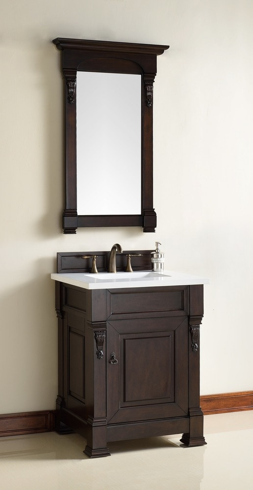James martin furniture brookfield collection transitional traditional single 25 5 base - Bathroom vanity cabinet base only ...