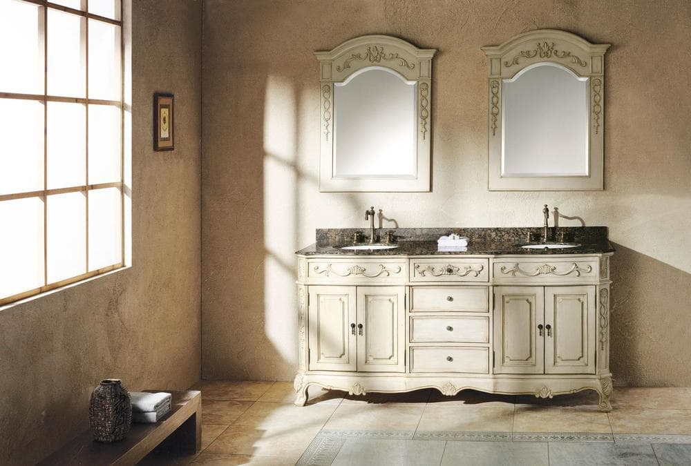 James martin furniture traditions collection transitional - Antique white double sink bathroom vanities ...