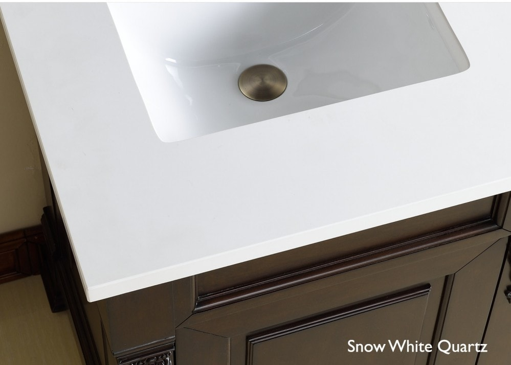 James Martin Furniture 3 Cm Quartz Vanity Top Snow White Quartz 36