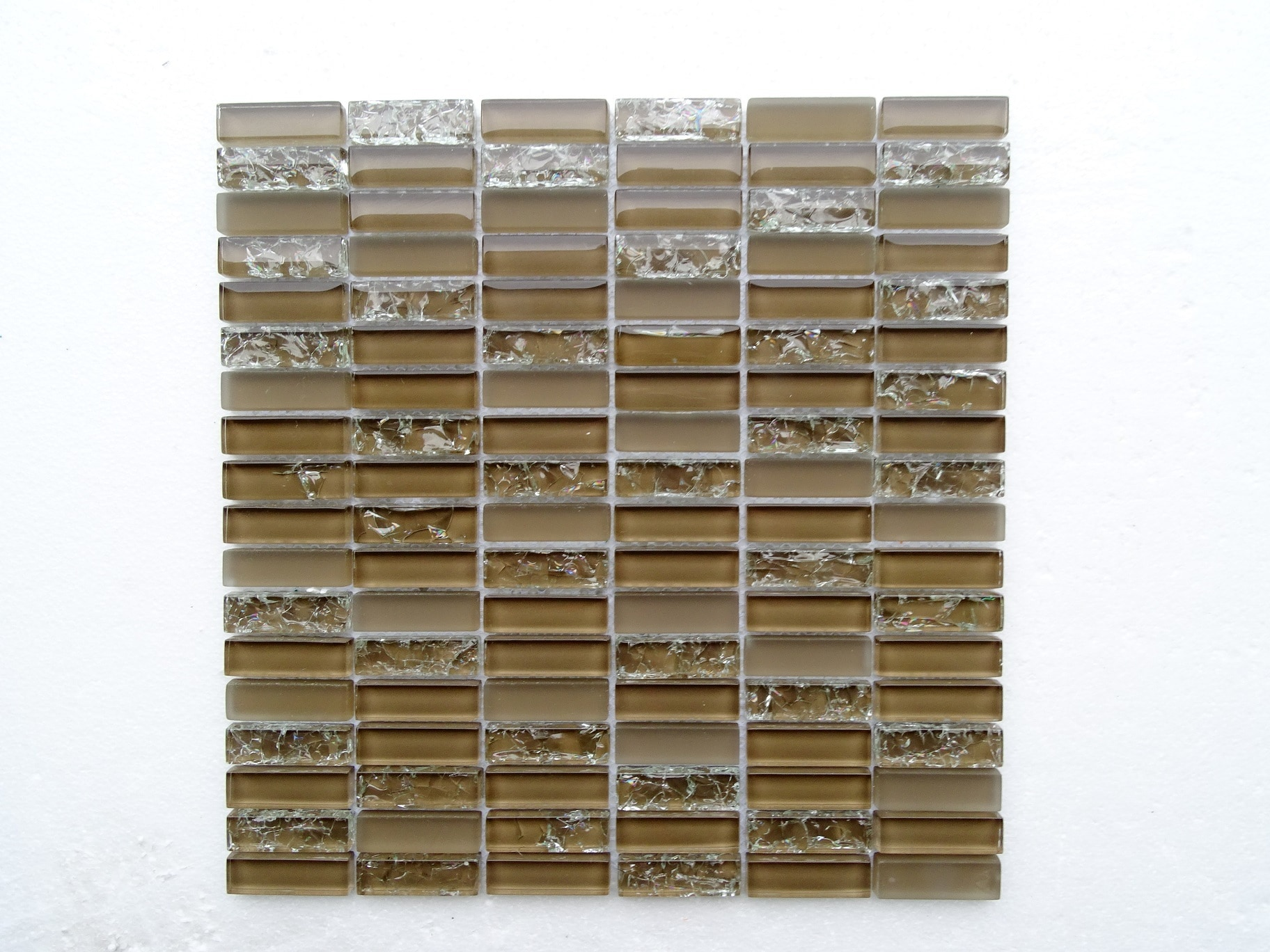 """Taupe Glass / 13.75""""X12""""X8 mm Subway Series 0"""