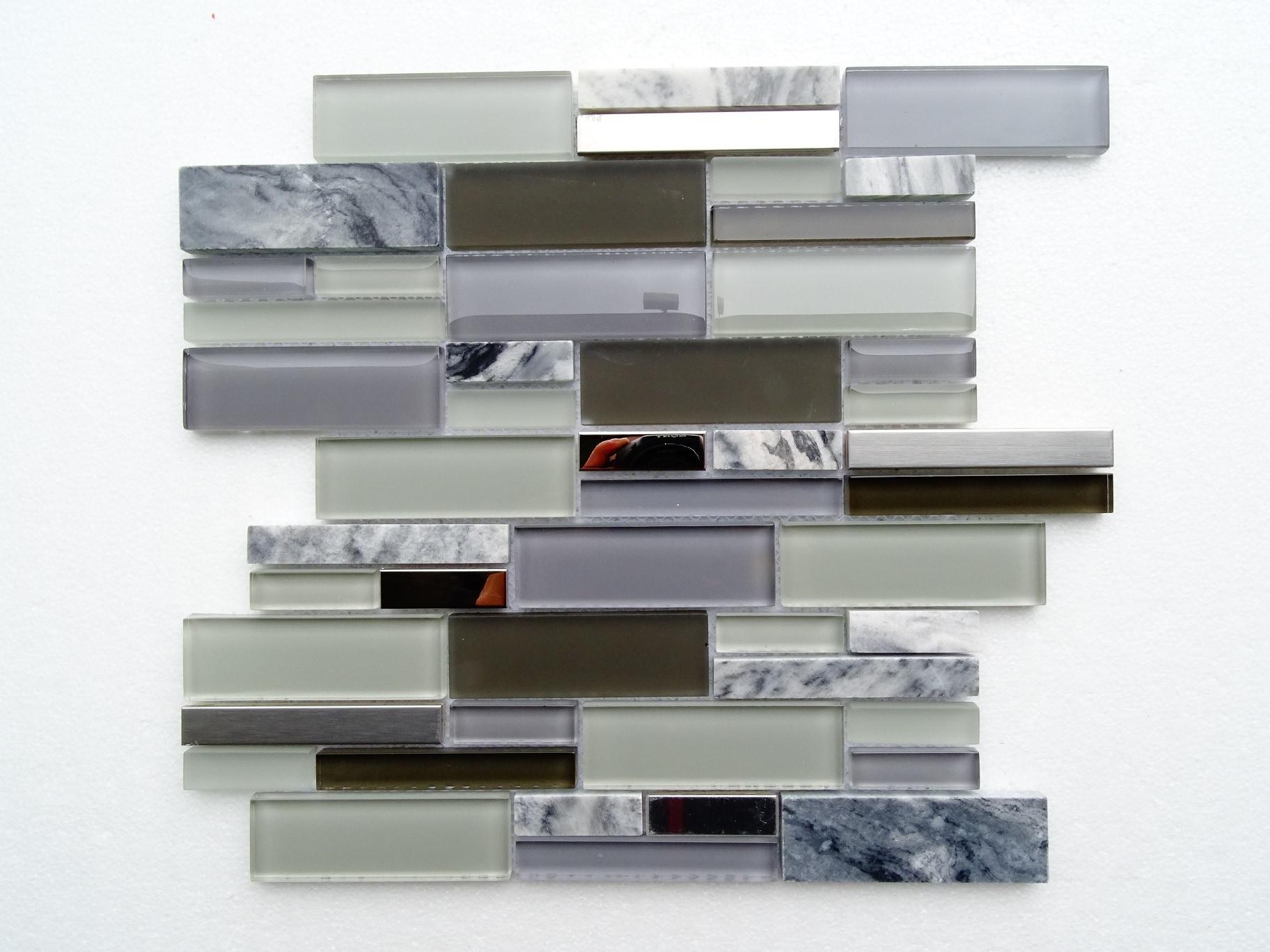 "Grey Marble / 12.75""x12""x8mm Subway Series 0"