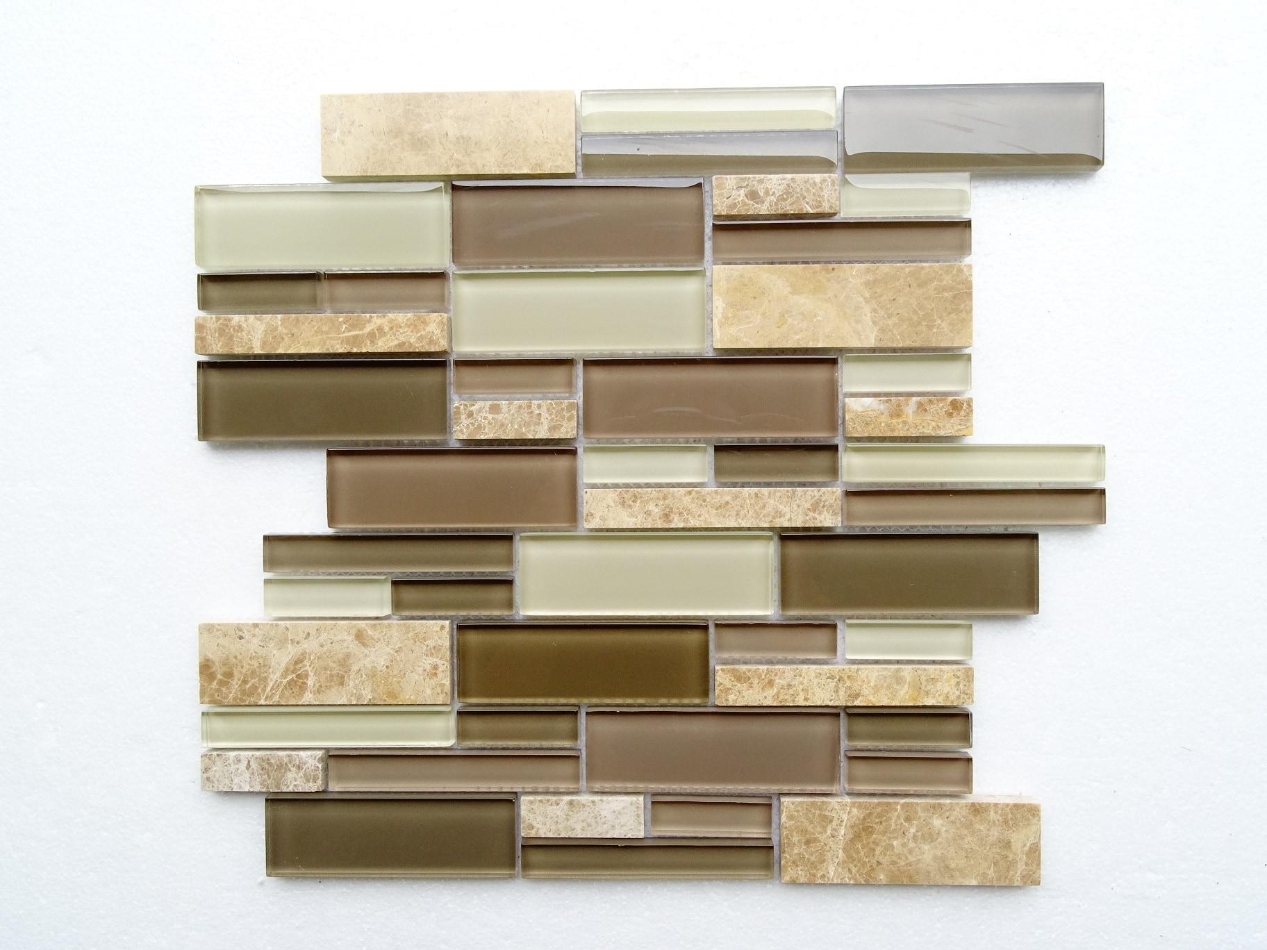 "Brown marble / 12.75""x12""x8mm Interlocking Series 0"
