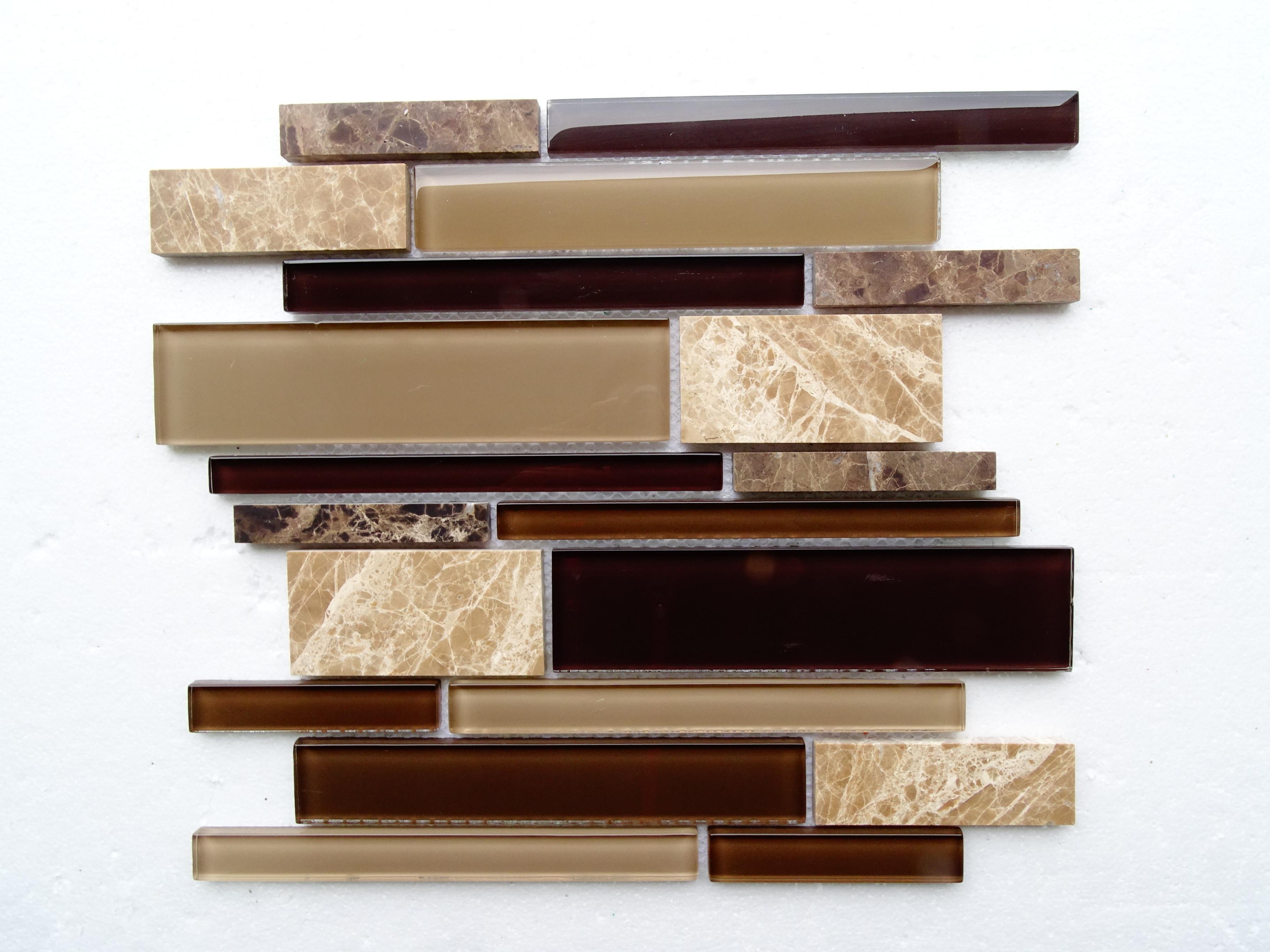 "Brown marble / 12""x12""x8mm Textured Stripe Series 0"