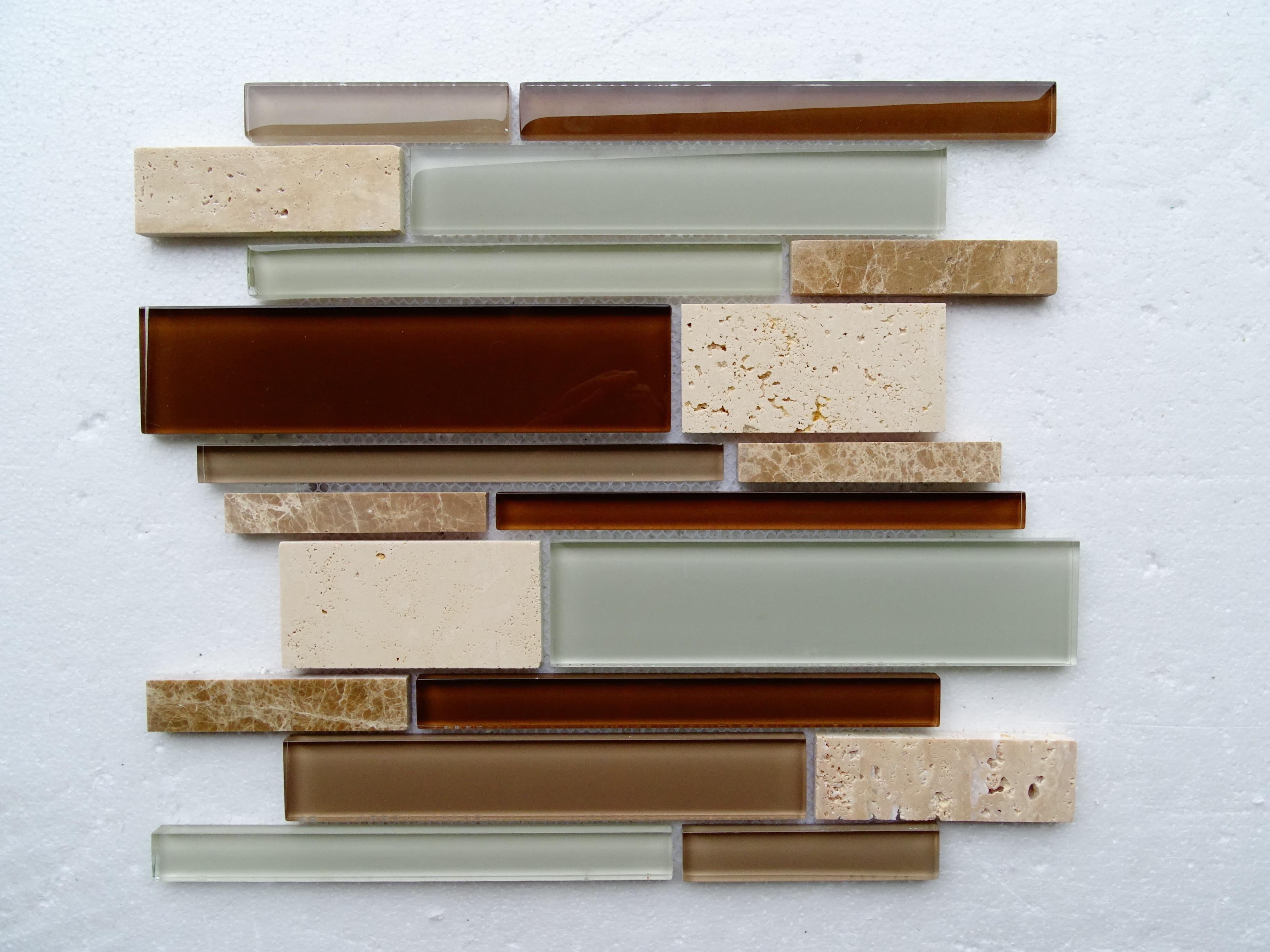 "light Brown Marble / 13.5""x12""x8 mm Textured Stripe Series 0"