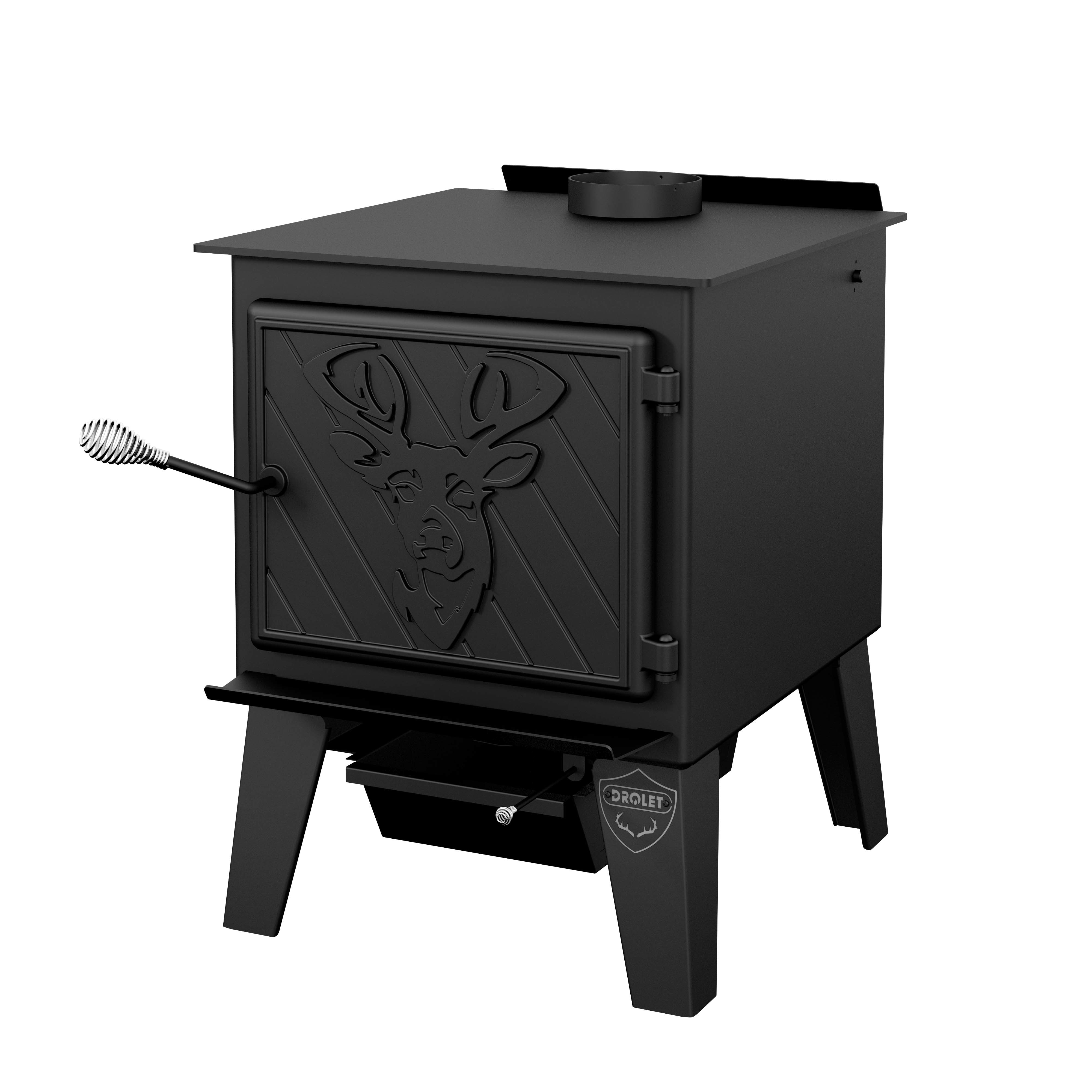 Drolet Black Stag Drolet wood stove Black Stag / Wood stove with ...