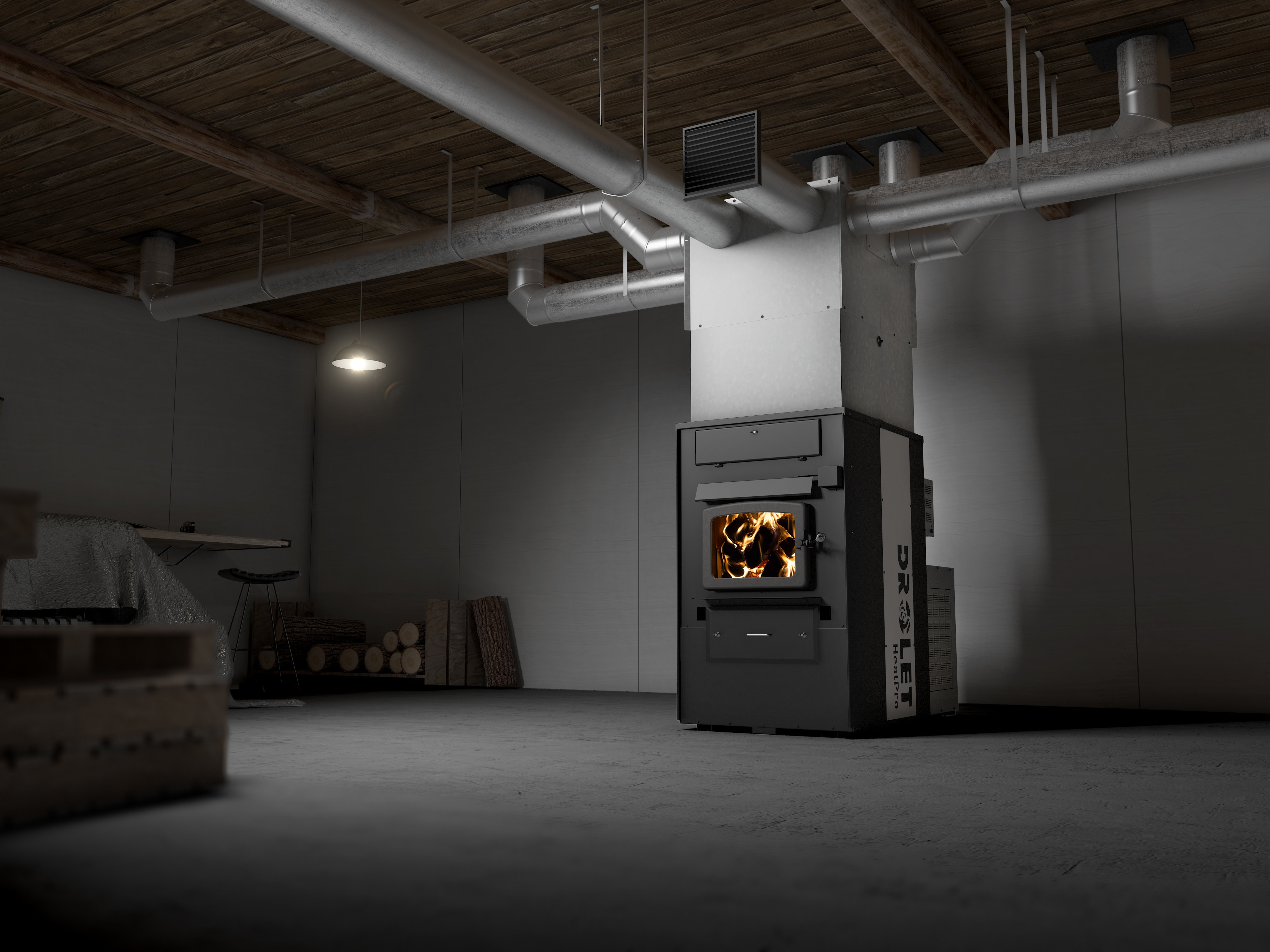 Drolet HeatPro Drolet wood furnace HeatPro / Wood furnace / Large ...