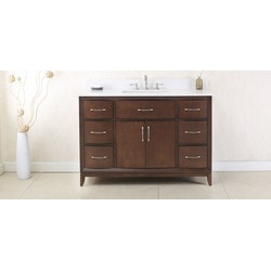 Legion Furniture Legion Furniture WLF7030 48 Antique Coffee Sink Vanity With QUARTZ Top
