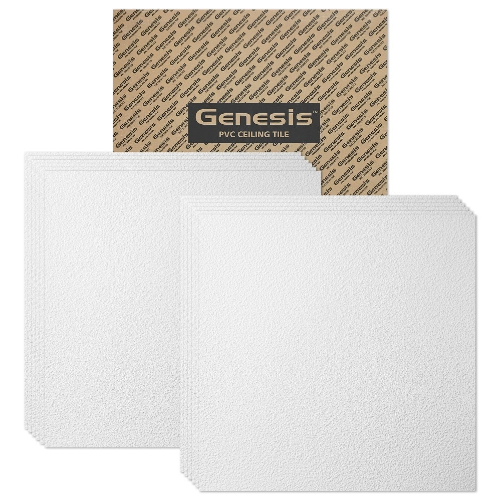 Genesis lay in ceiling tile case of 12 stucco pro 2ft x 2ft 76000c1k58935c37cdb3f dailygadgetfo Gallery