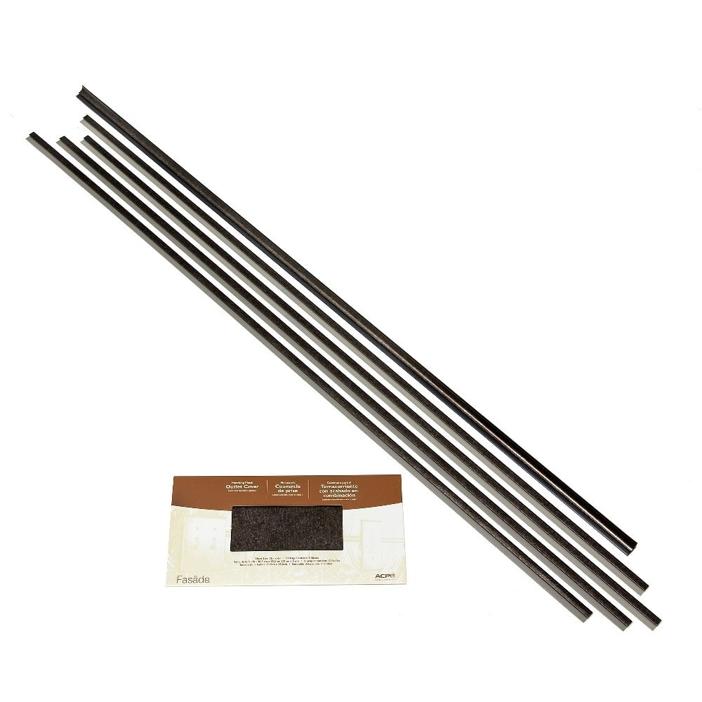 Aspect 6 x 24 inch autumn sandstone peel and stick stone backsplash - Fasade Backsplash Accessory Kit Smoked Pewter