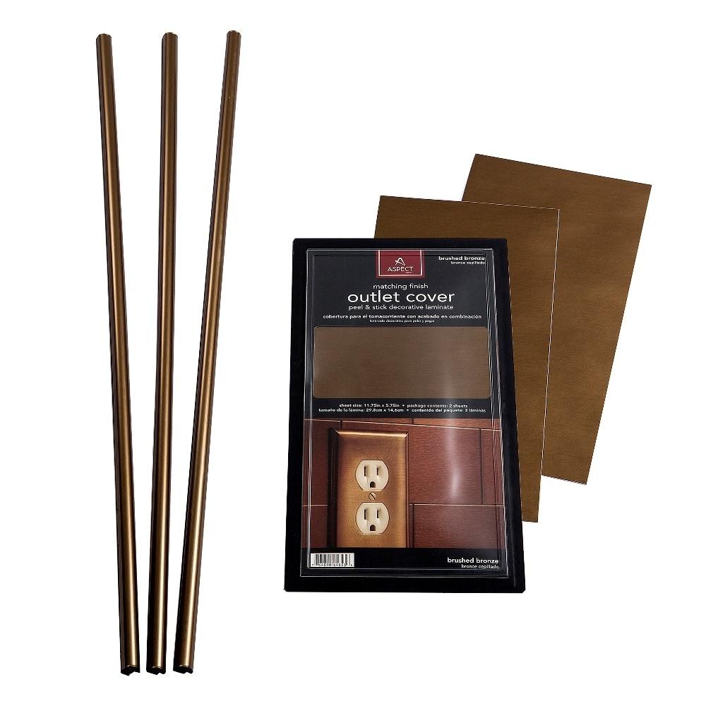 Aspect 6 x 24 inch autumn sandstone peel and stick stone backsplash - Aspect Metal Backsplash Accessory Kit Bronze